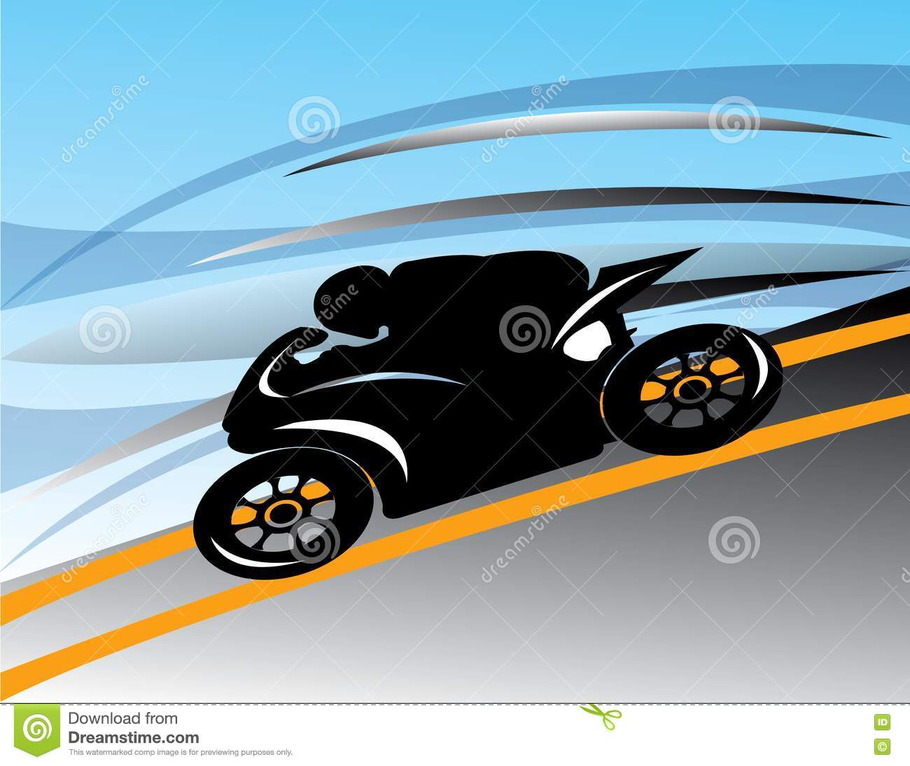 Abstract motorcycle track illustration spee royalty free stock photo