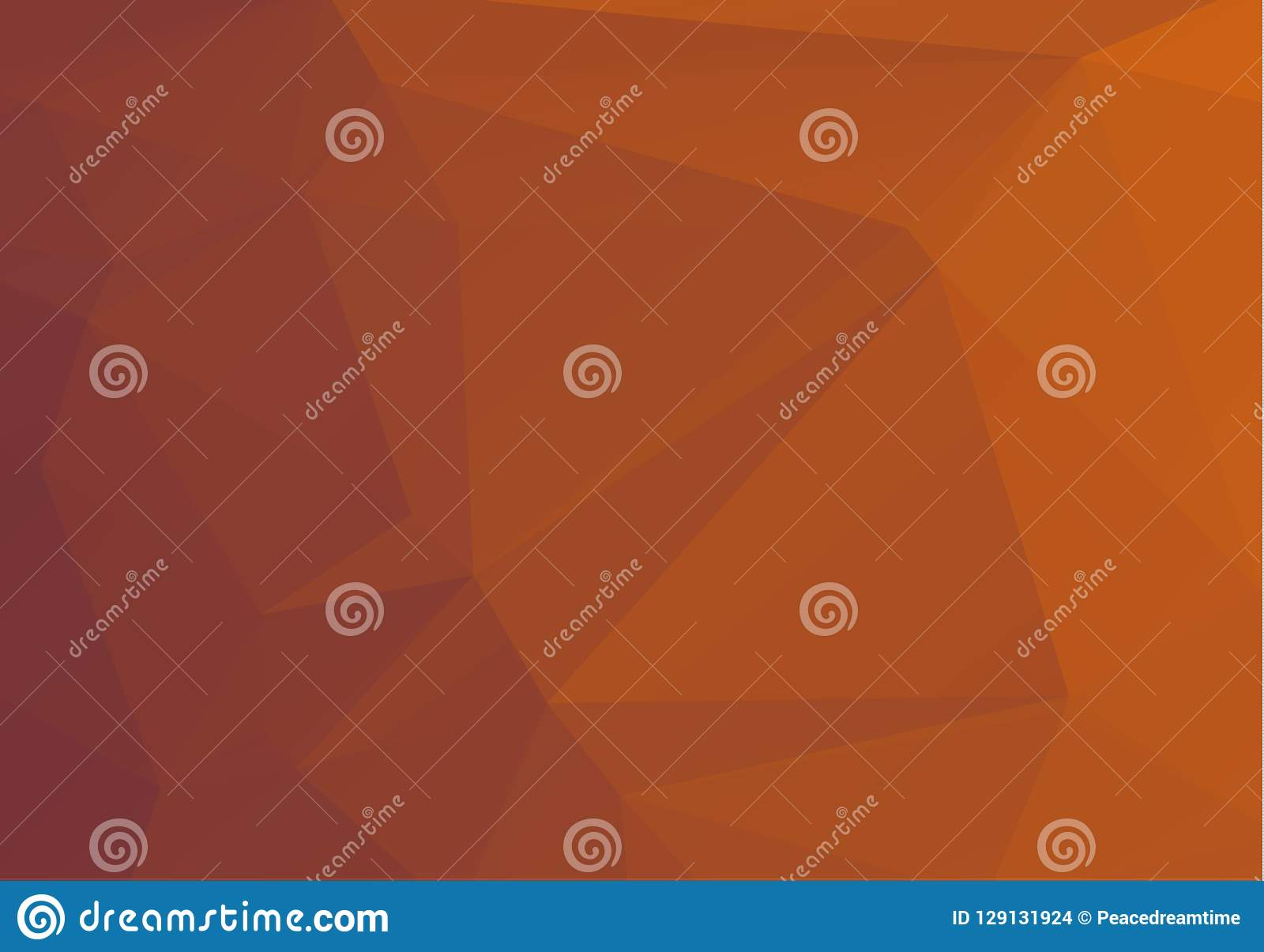 Abstract Multicolor orange, brown gradient geometric pattern. Triangles background. Polygonal raster abstract for your design. Coo