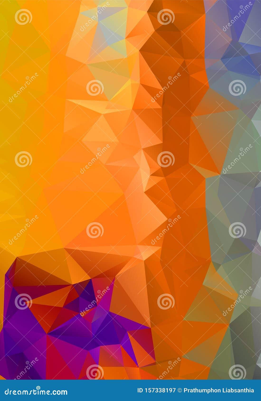 Abstract multicolor orange son background. Vector polygonal design illustrator