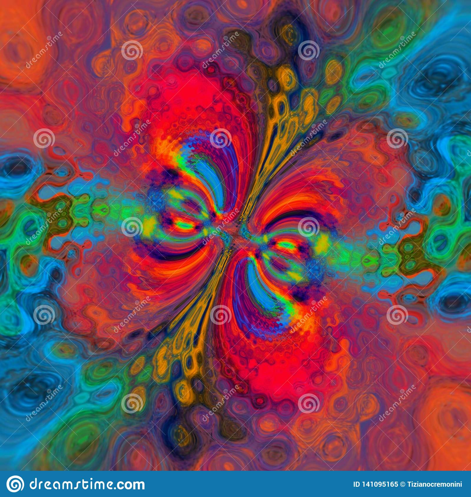 Magazine Art Et Décoration abstract multicolored background, painting, digital
