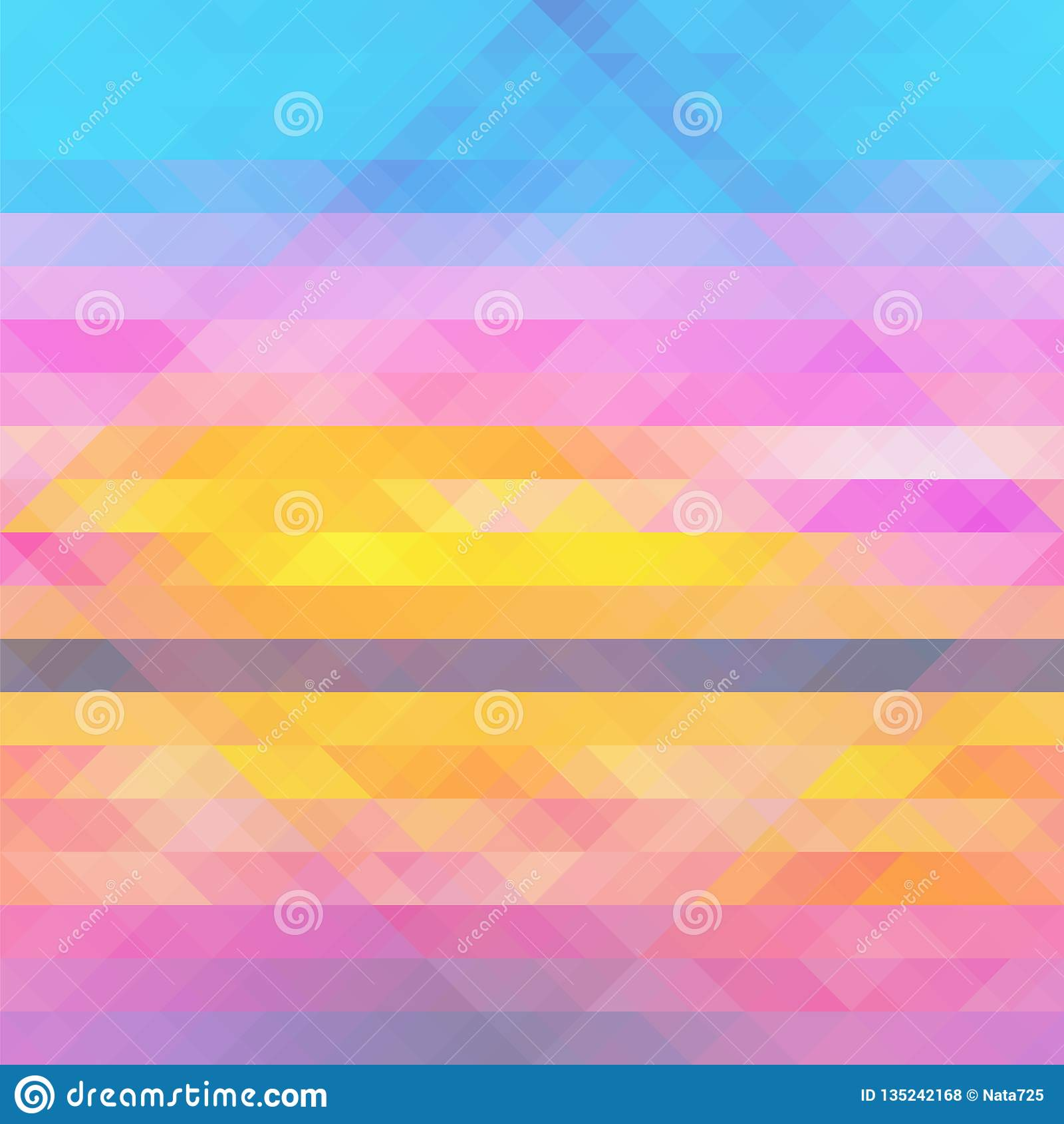 Abstract multicolored geometric pattern background with triangles