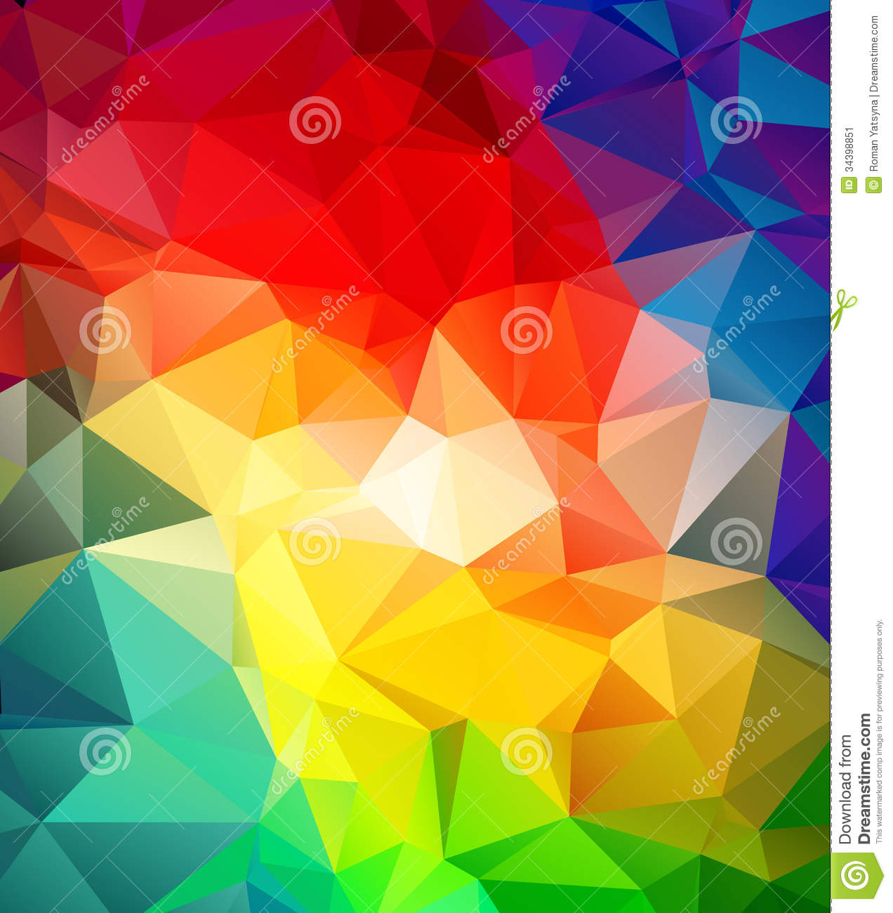 Abstract Multicolored Geometric Pattern Stock Image