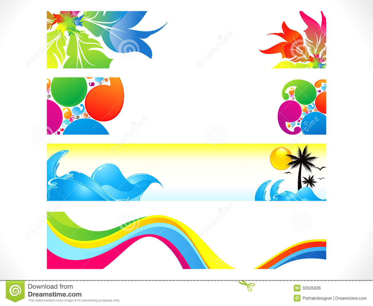 abstract multiple colorful banners background stock vector