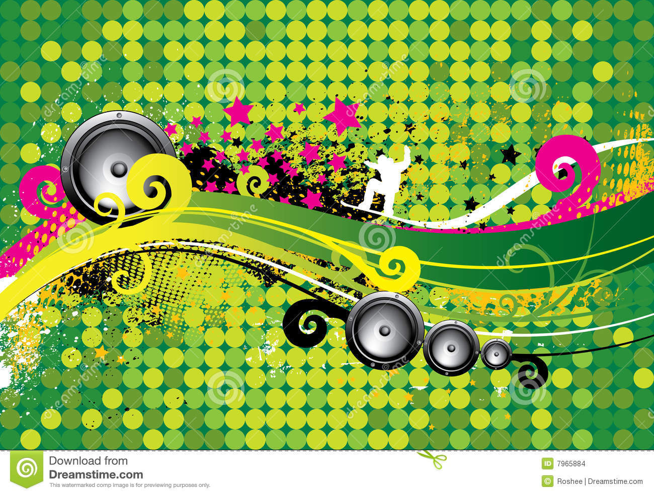 Music Abstract Backgrounds: Abstract Music Background Stock Vector. Image Of Techno