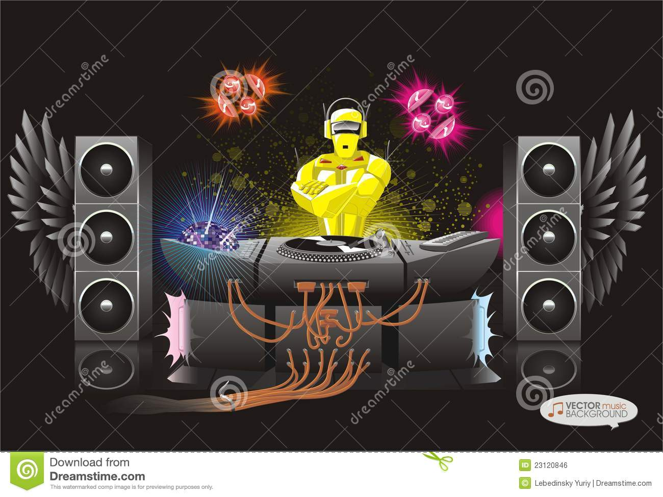 Abstract Music Background Dj Rodot Royalty Free Stock