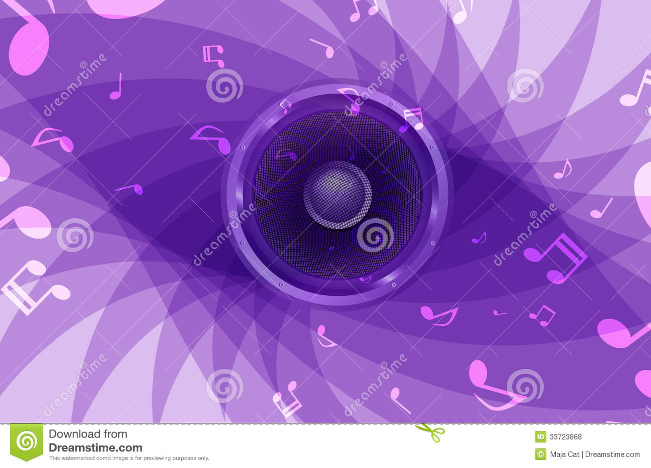 Abstract music background stock illustration. Image of ...