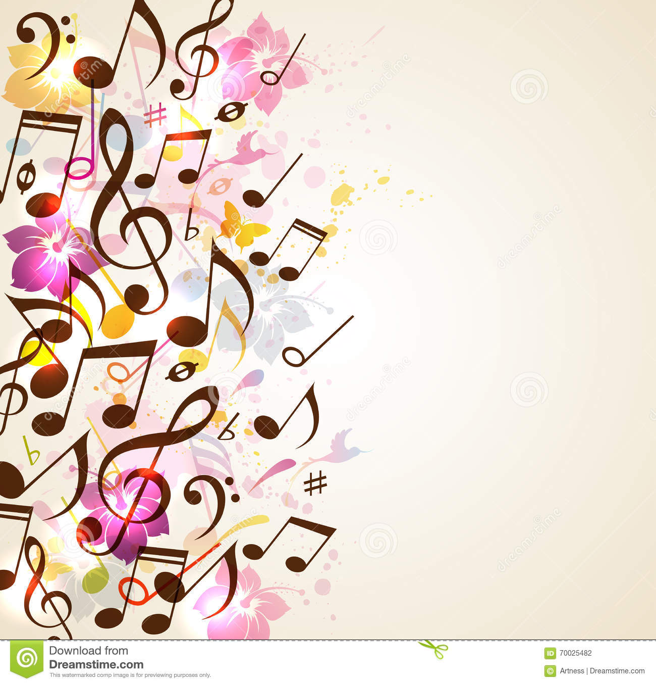 Abstract Music Background Stock Vector. Illustration Of