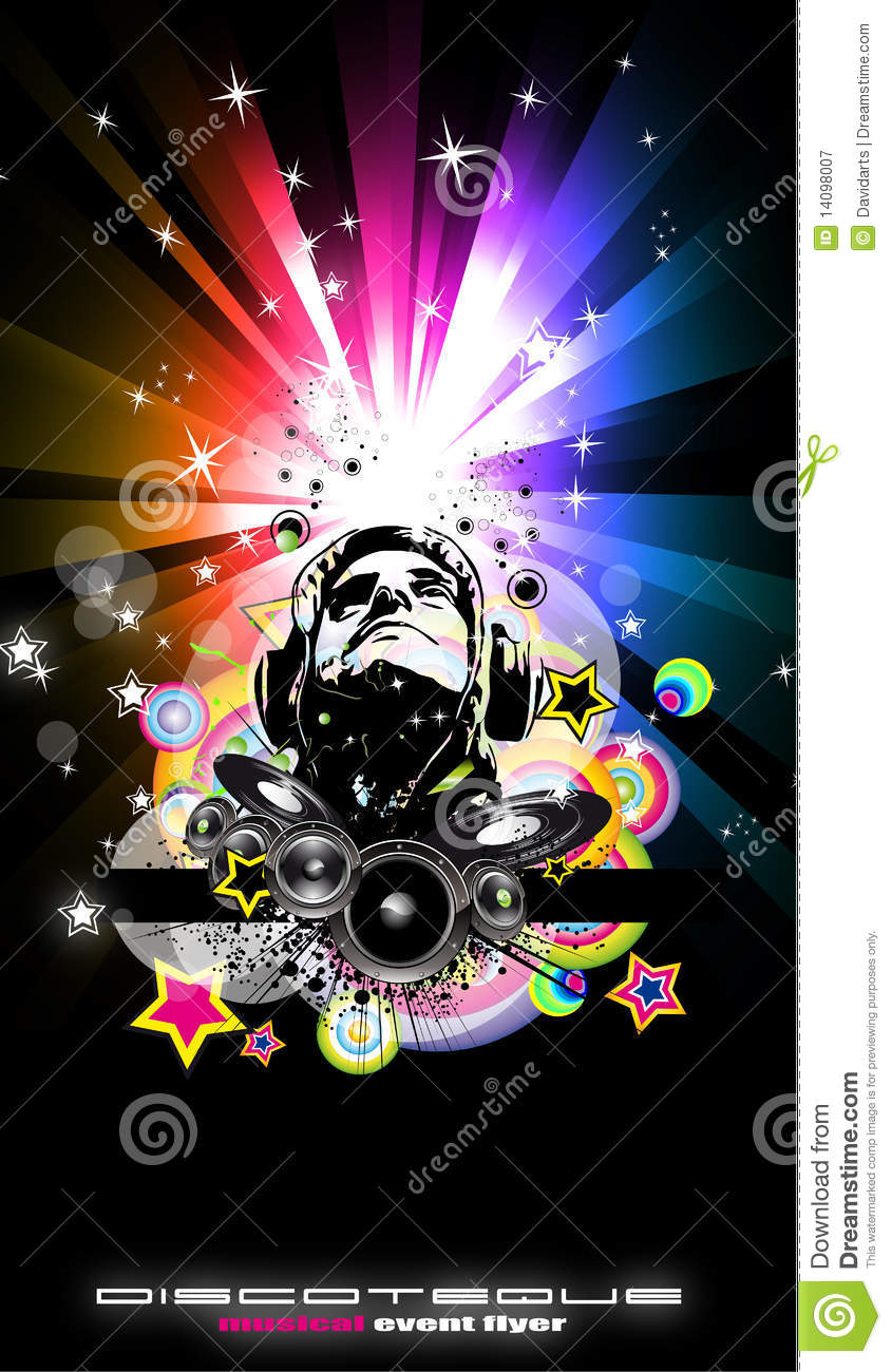 abstract music disco flyer background stock vector illustration of