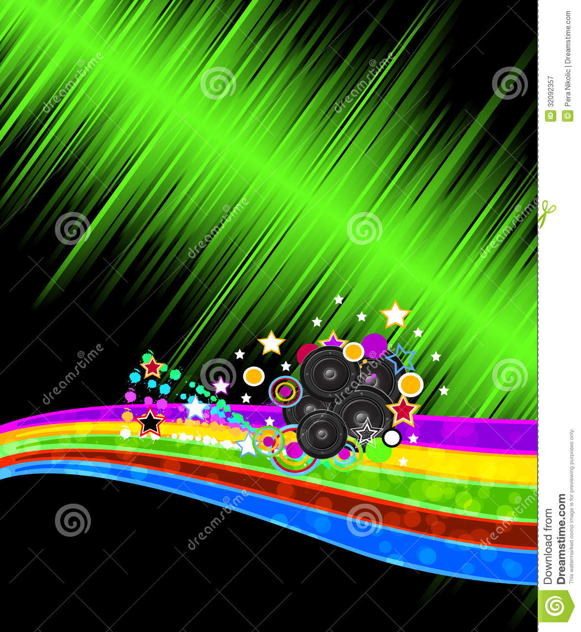Abstract music disco flayer background for night events