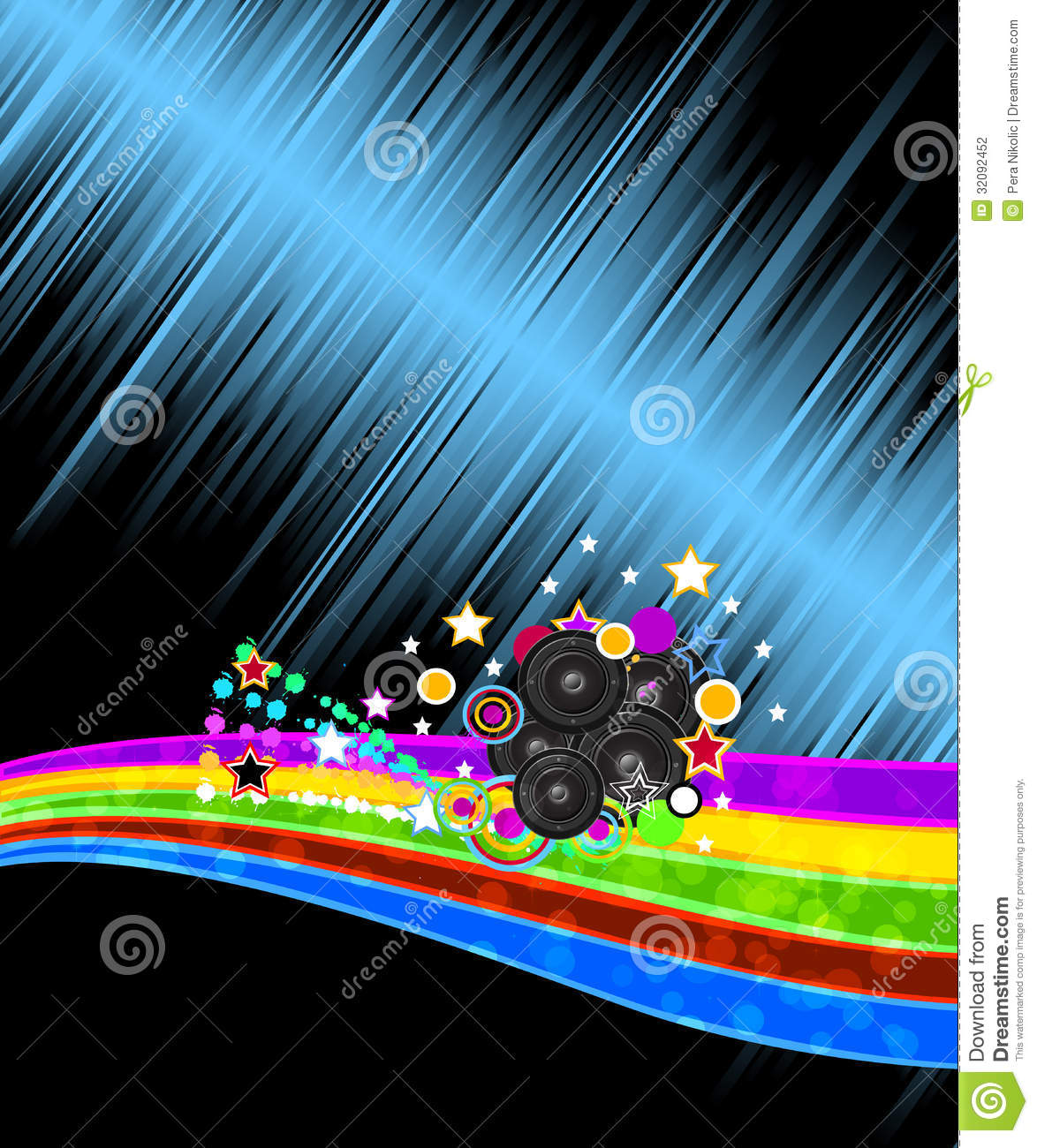 abstract music disco flyer background stock vector