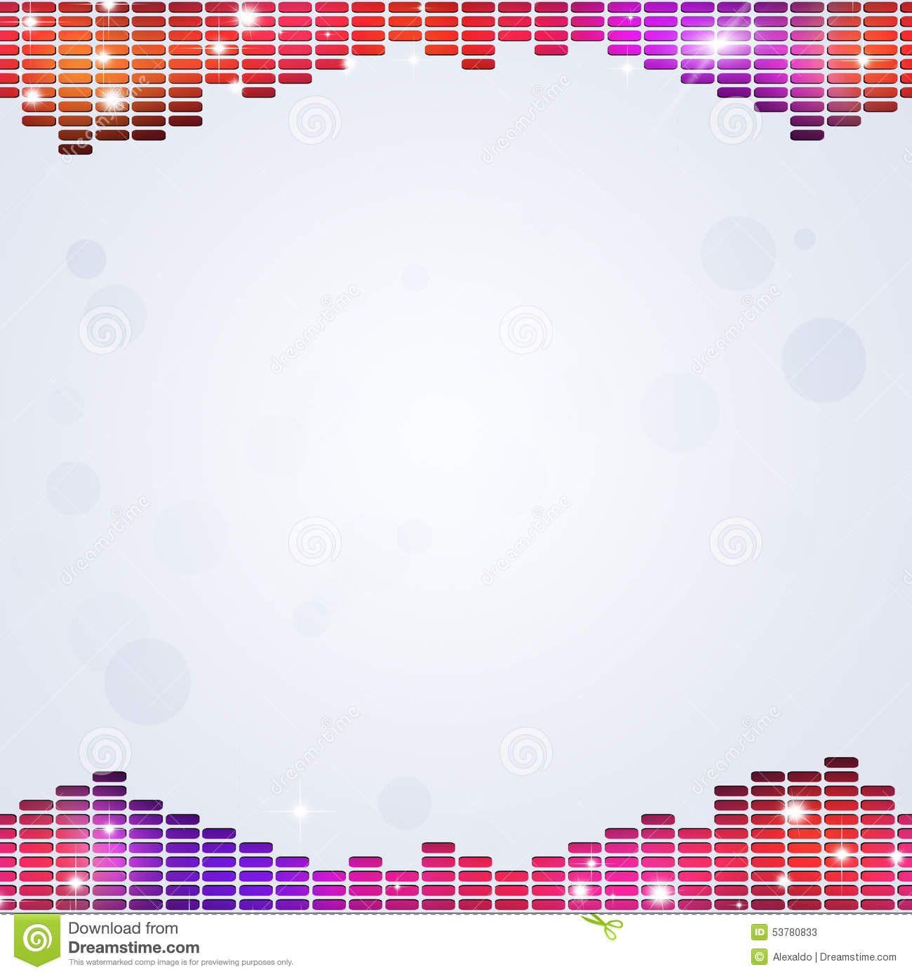 Abstract Music Equalizer stock illustration. Image of ...