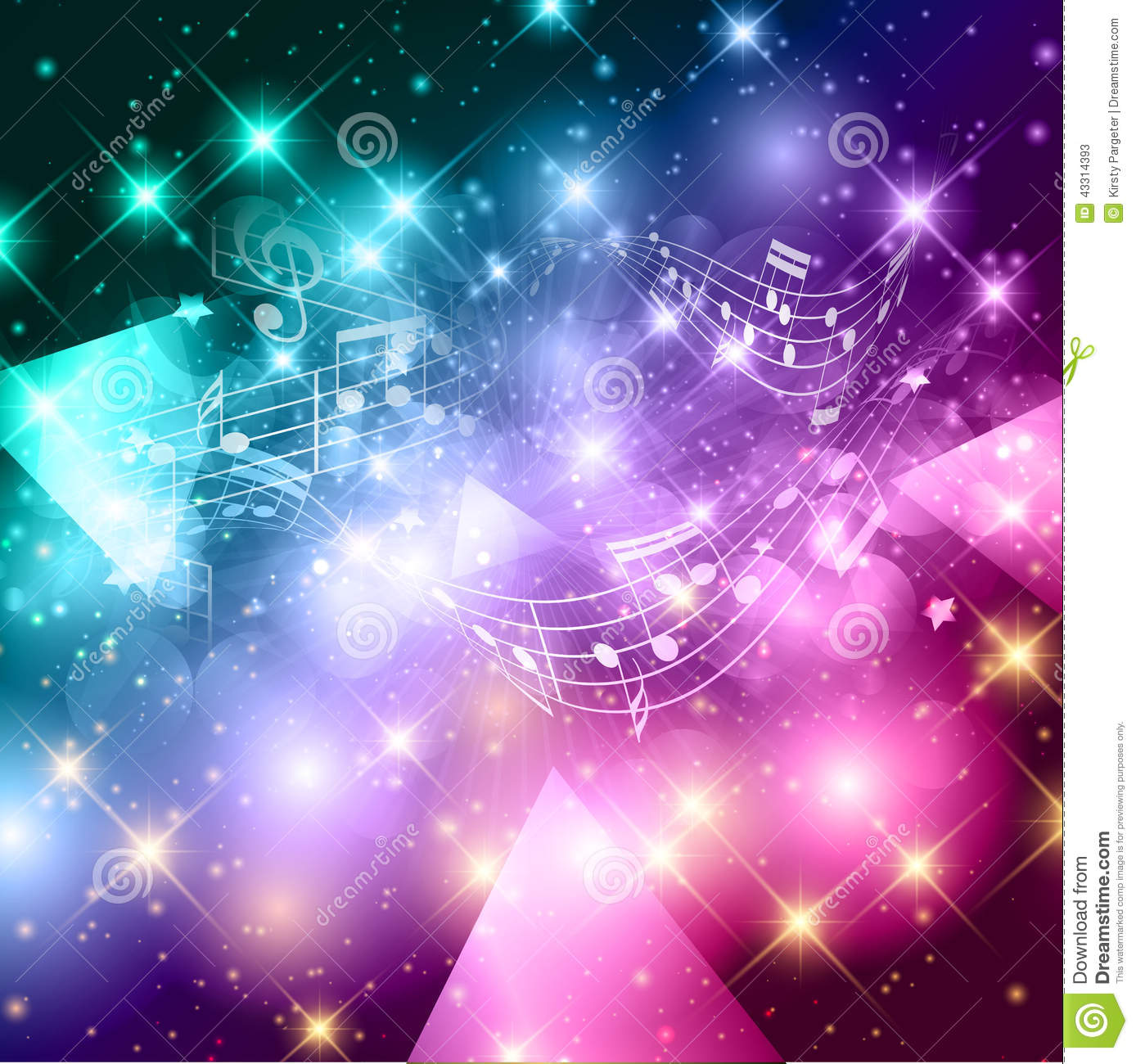 Abstract Music Notes Background Stock Vector ...