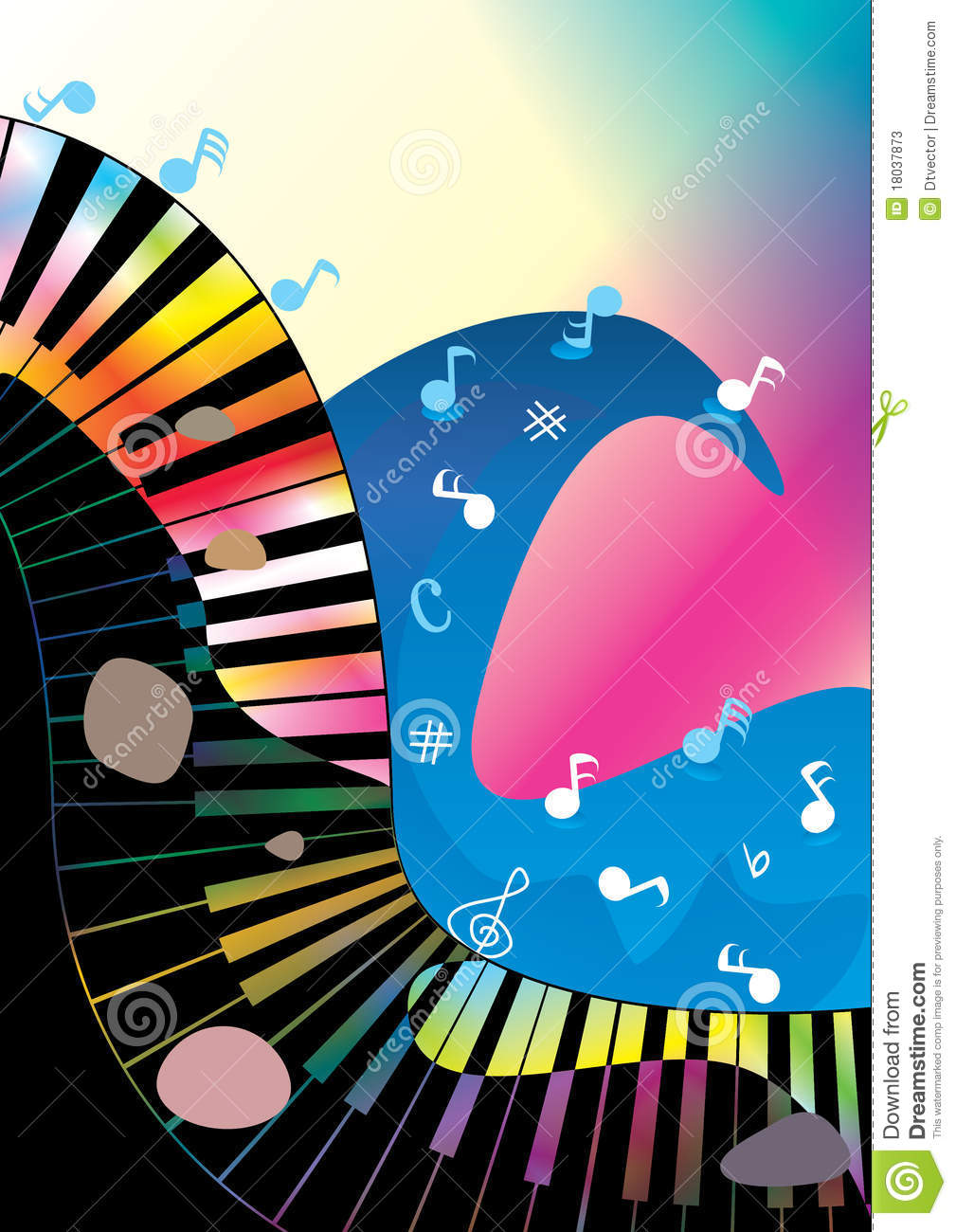 Download Abstract Music Ocean Rock And Roll_eps Stock Vector - Illustration of element, border: 18037873