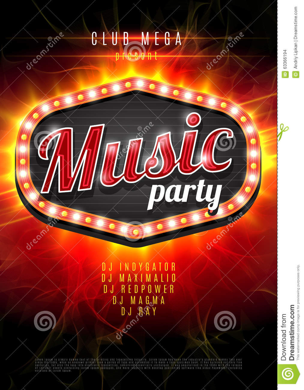 Abstract Music Party Background For Music Event Design