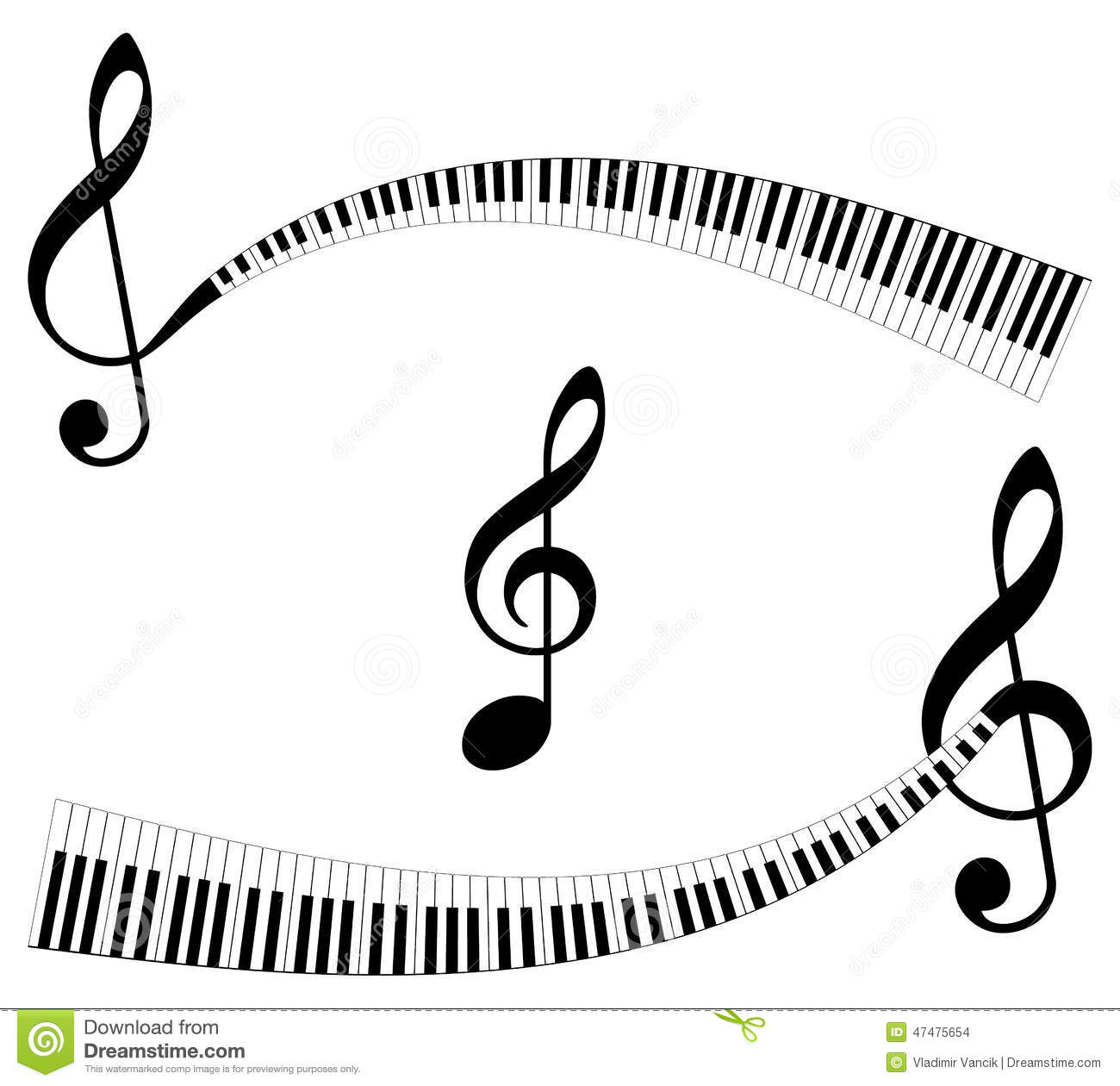 Treble clef in abstract piano keyboard symbol of music stock abstract music symbols stock images buycottarizona
