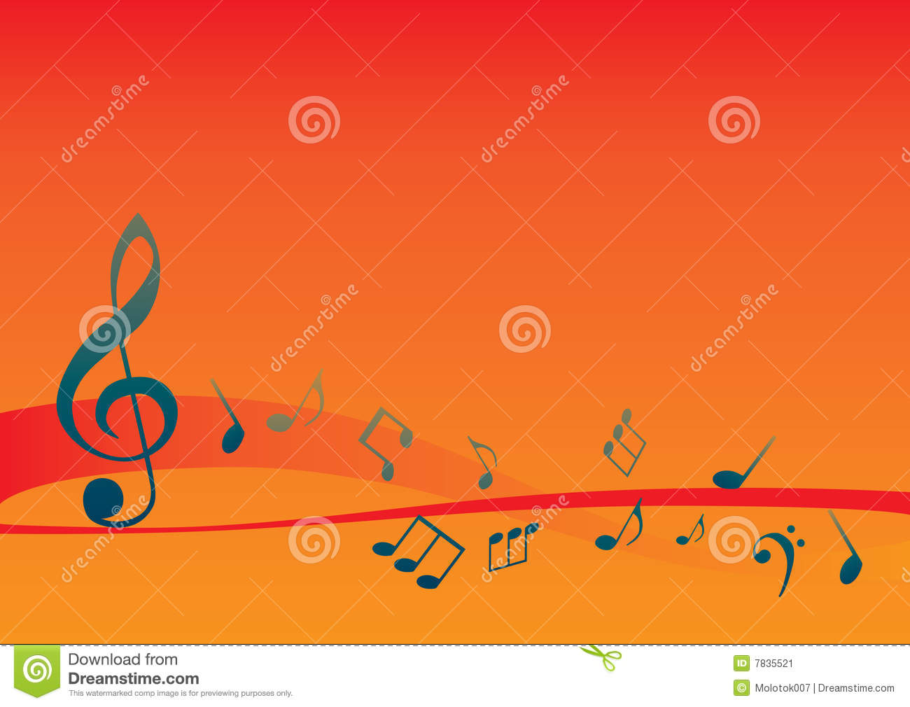 Stock image abstract musical background with music notes