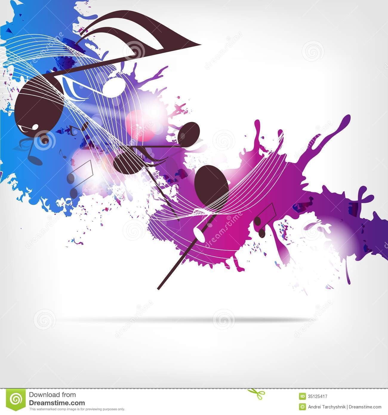 Abstract Musical Background With Notes Royalty Free Stock ...