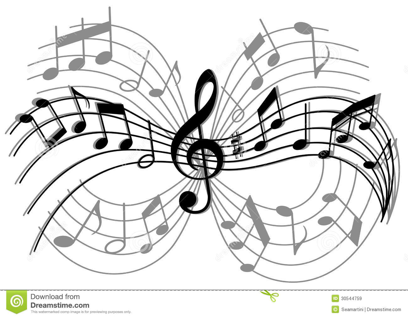Abstract Music Notes Art: Abstract Musical Composition Royalty Free Stock Images