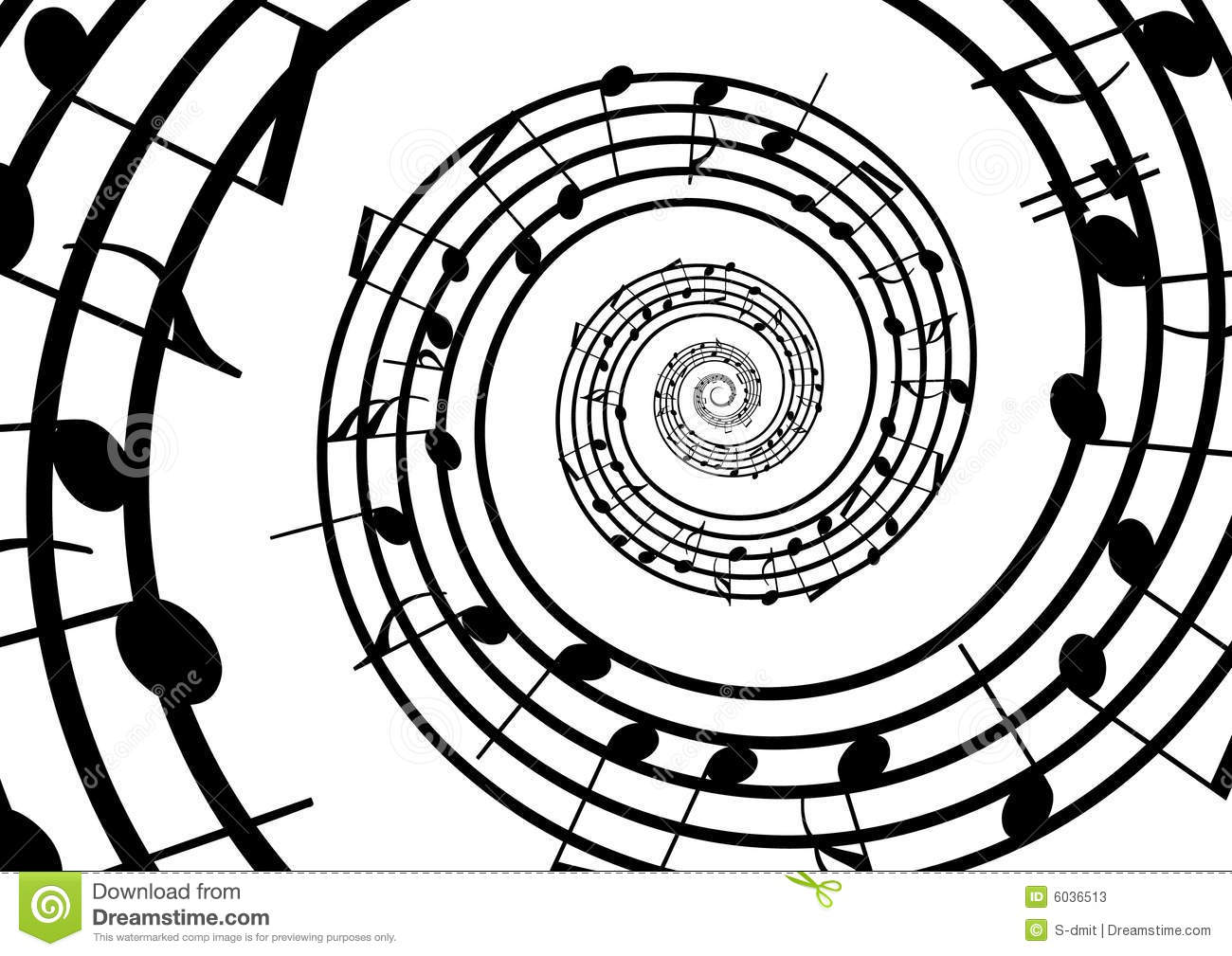 Abstract Music Notes Art: Abstract Musical Lines With Notes Stock Photos