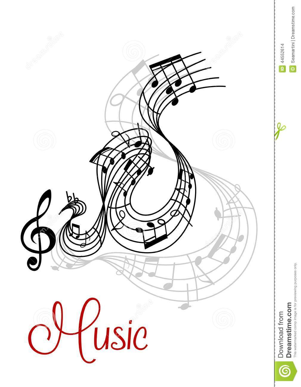 Abstract musical waves composition design stock vector for The craft of musical composition