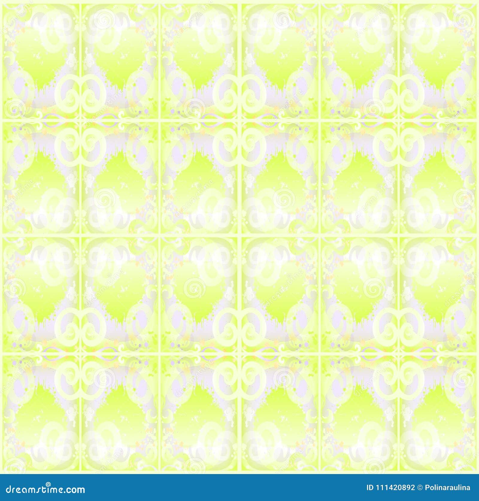 Abstract naadloos lichtgroen patroon voor textiel