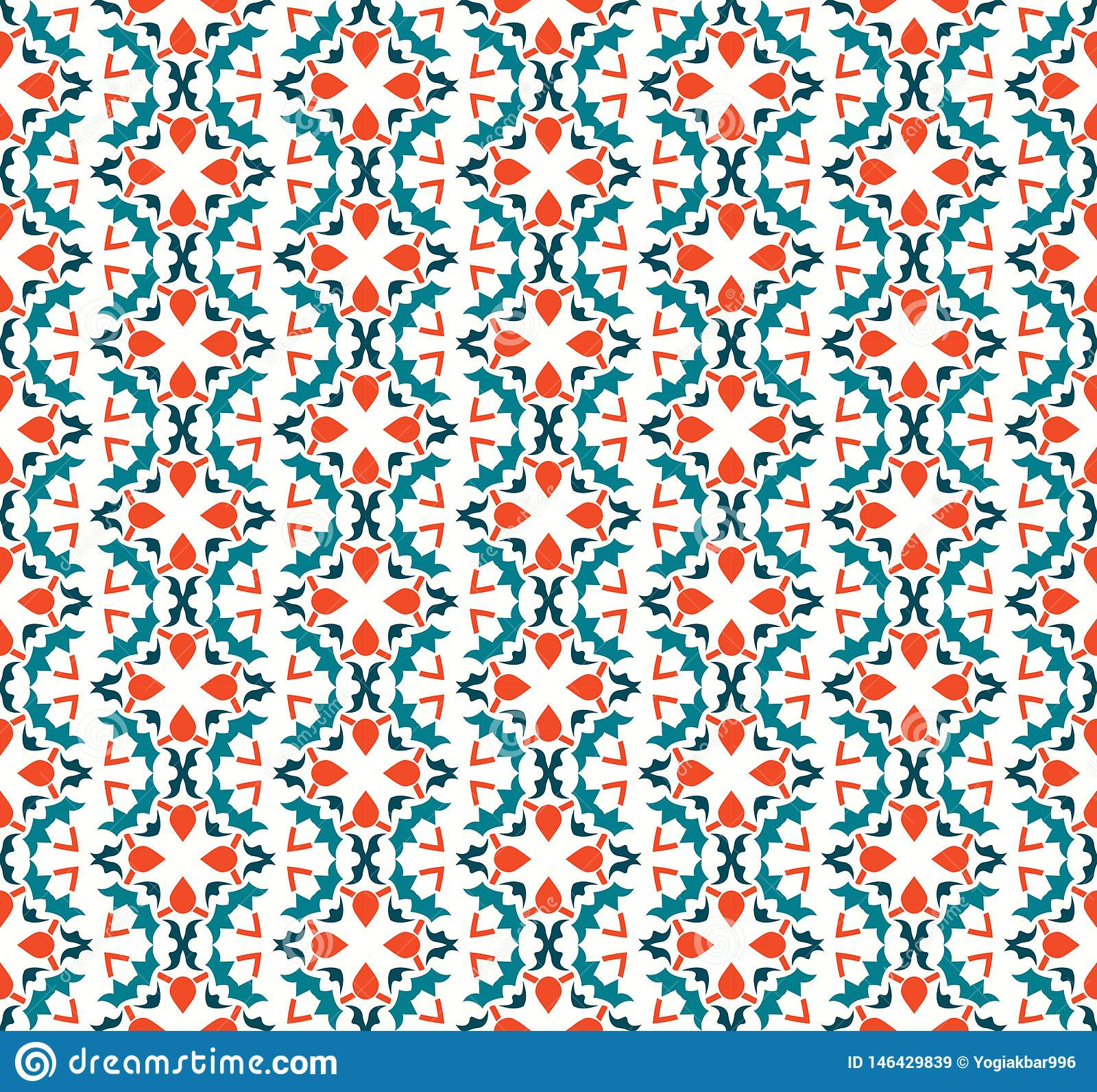 Abstract naadloos ornamentpatroon Vector illustratie