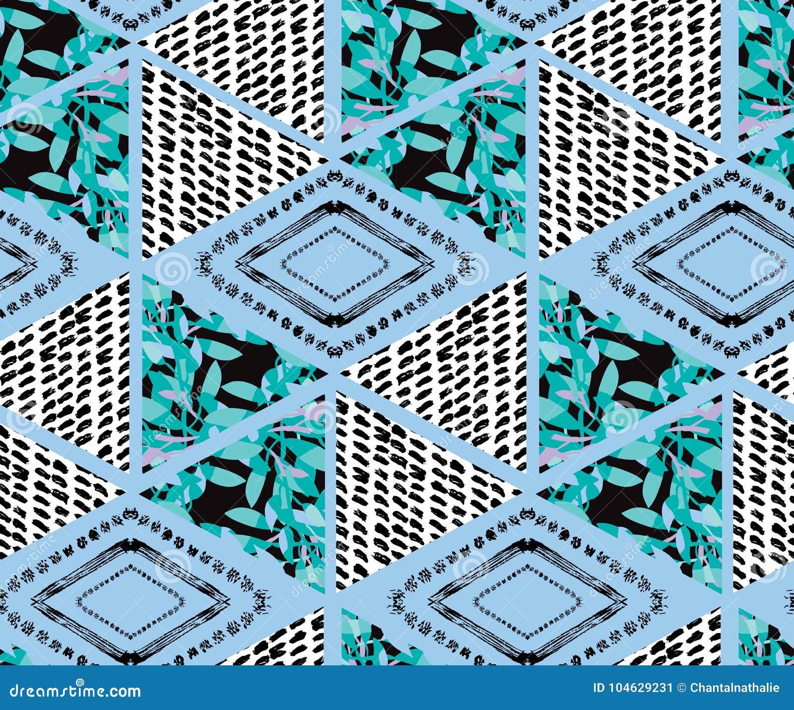 Download Abstract Naadloos Patroon vector illustratie. Illustratie bestaande uit ornament - 104629231