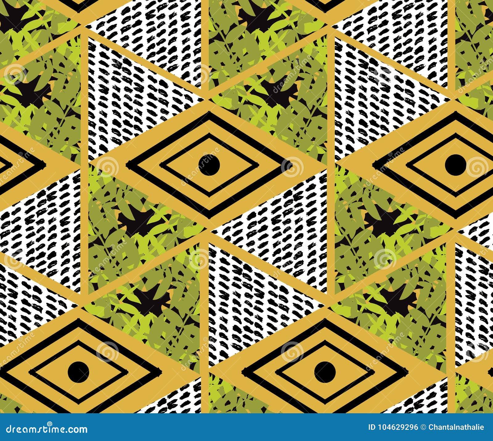 Download Abstract Naadloos Patroon vector illustratie. Illustratie bestaande uit patroon - 104629296