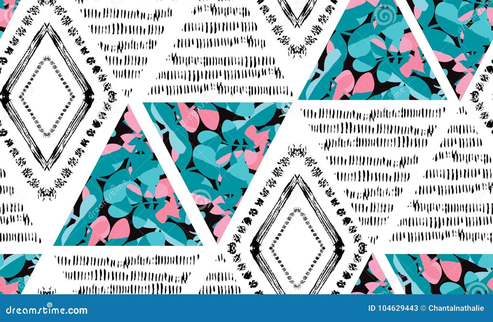 Download Abstract Naadloos Patroon vector illustratie. Illustratie bestaande uit borstel - 104629443