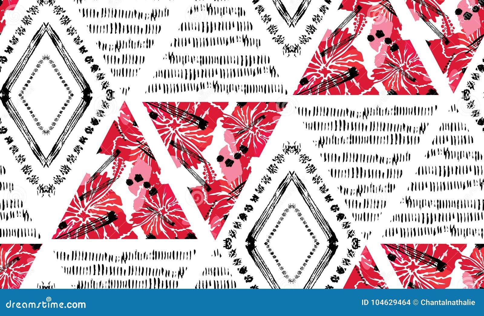 Download Abstract Naadloos Patroon vector illustratie. Illustratie bestaande uit borstel - 104629464