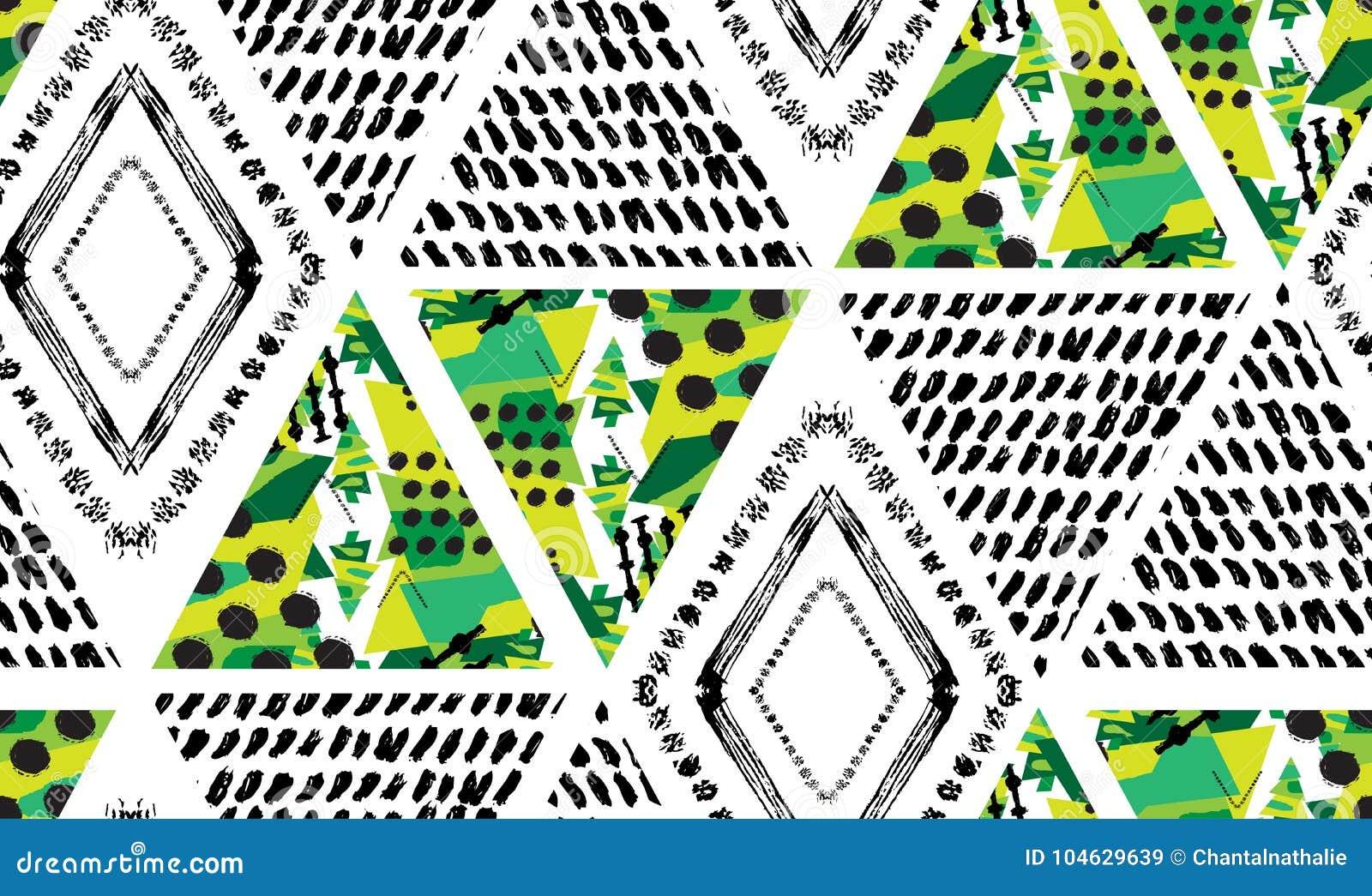 Download Abstract Naadloos Patroon vector illustratie. Illustratie bestaande uit ornament - 104629639