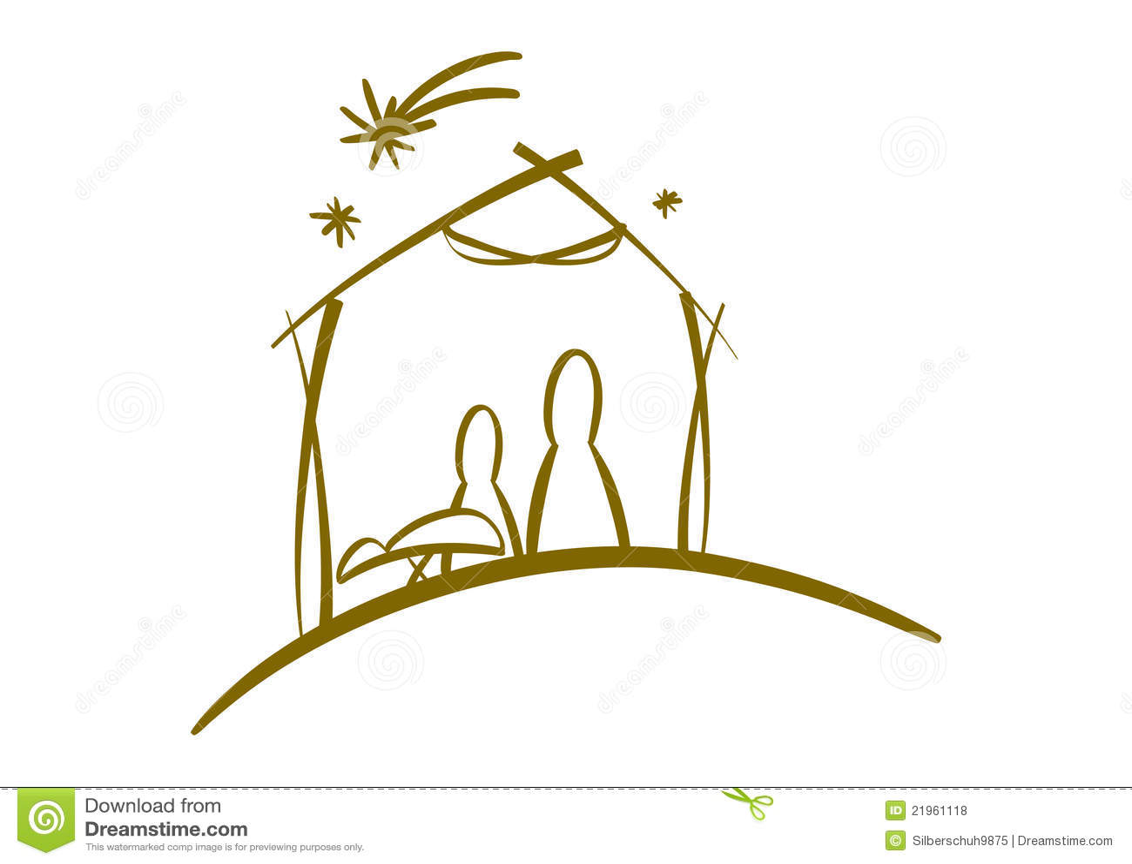 Abstract Nativity Symbol Royalty Free Stock Photos - Image ...