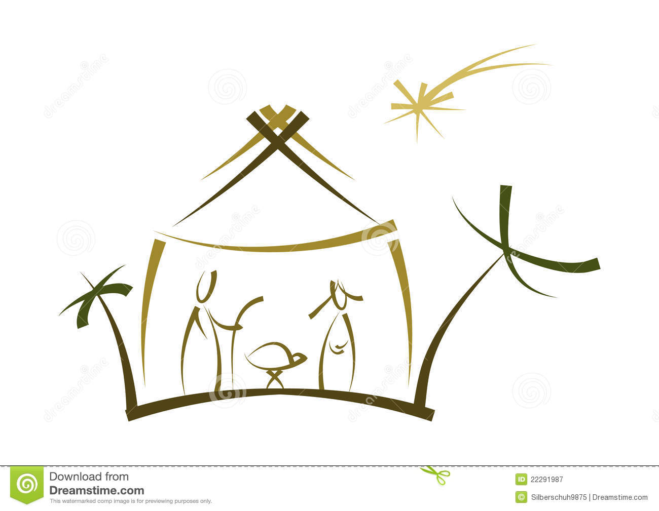 Abstract Nativity Symbol Royalty Free Stock Photography - Image ...