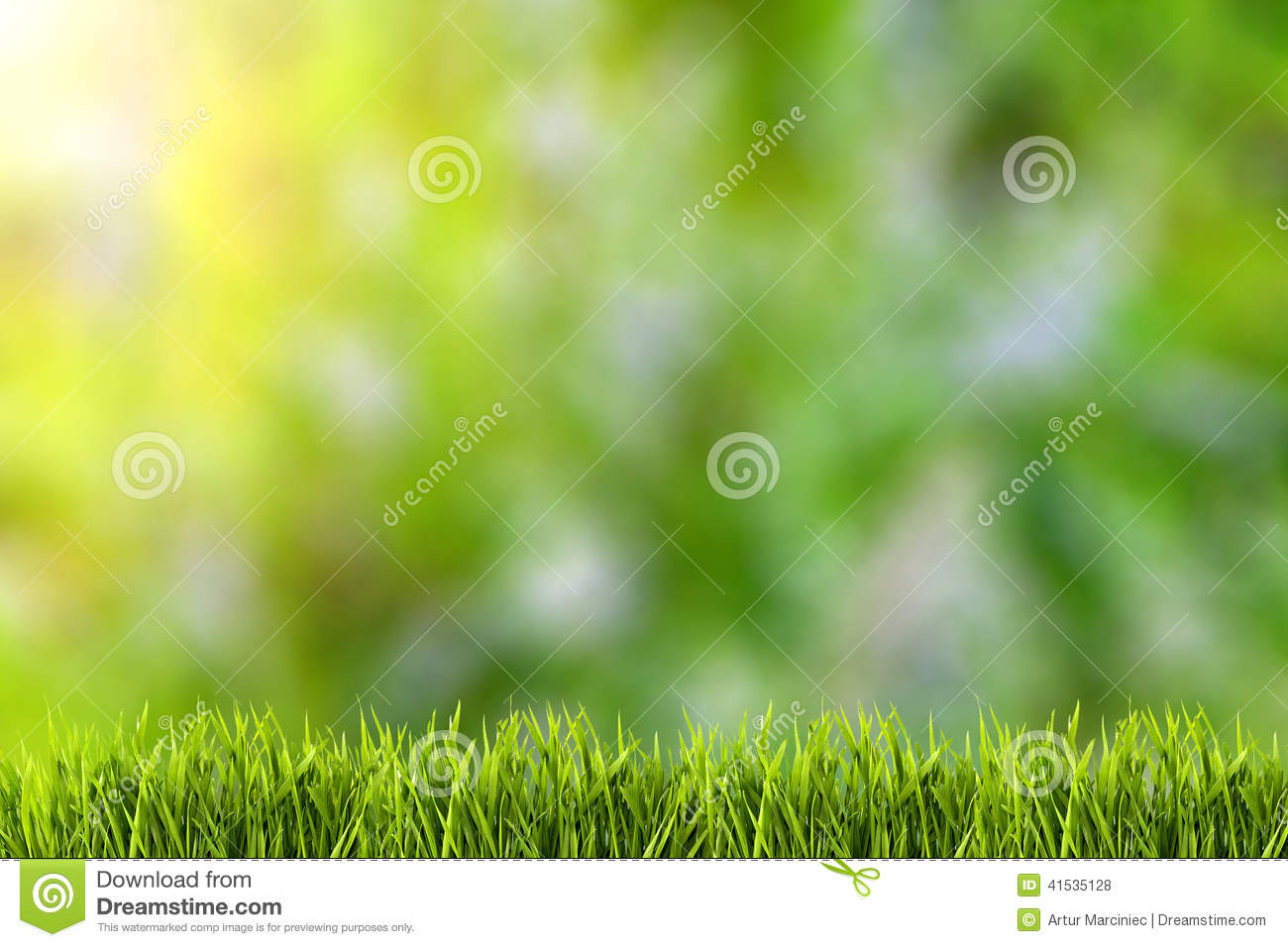 Abstract natural backgrounds on green grass.