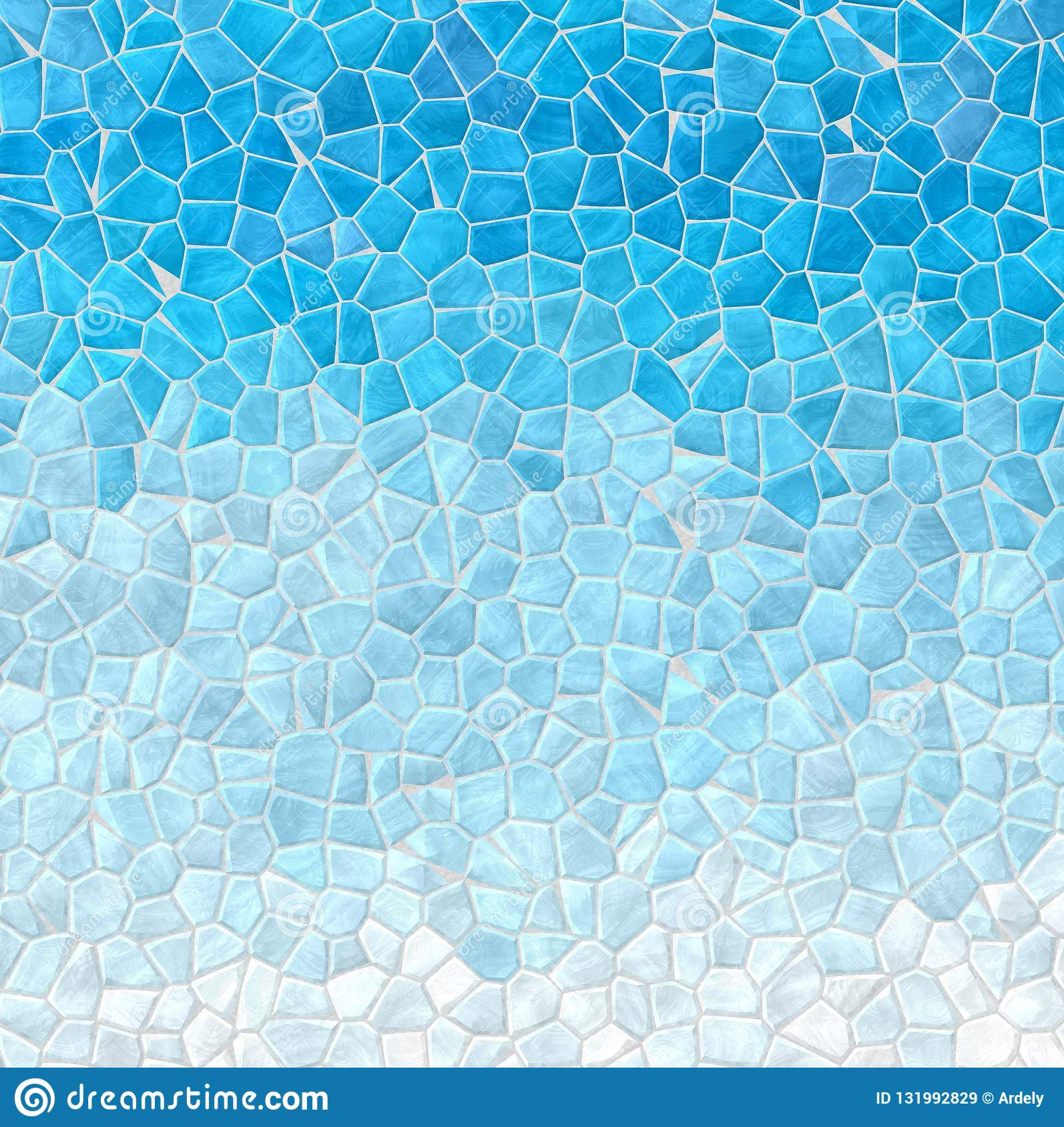 Abstract Marble Plastic Stony Mosaic Tiles Texture Background With Gray Grout Sky Blue White Gradient Colors Stock Illustration Illustration Of Graininess Collage 131992829