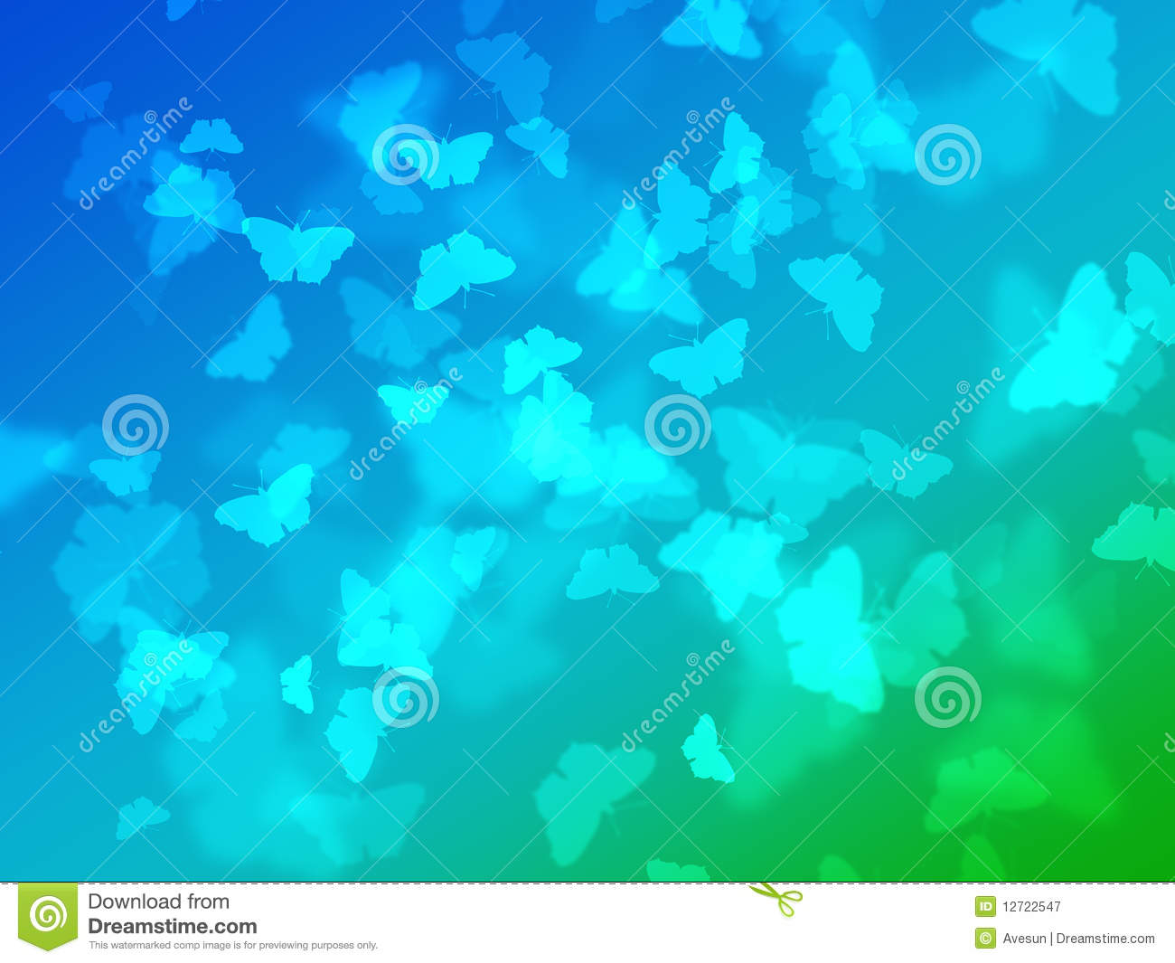 Abstract Nature Wallpaper With Bokeh Butterfly Stock Illustration