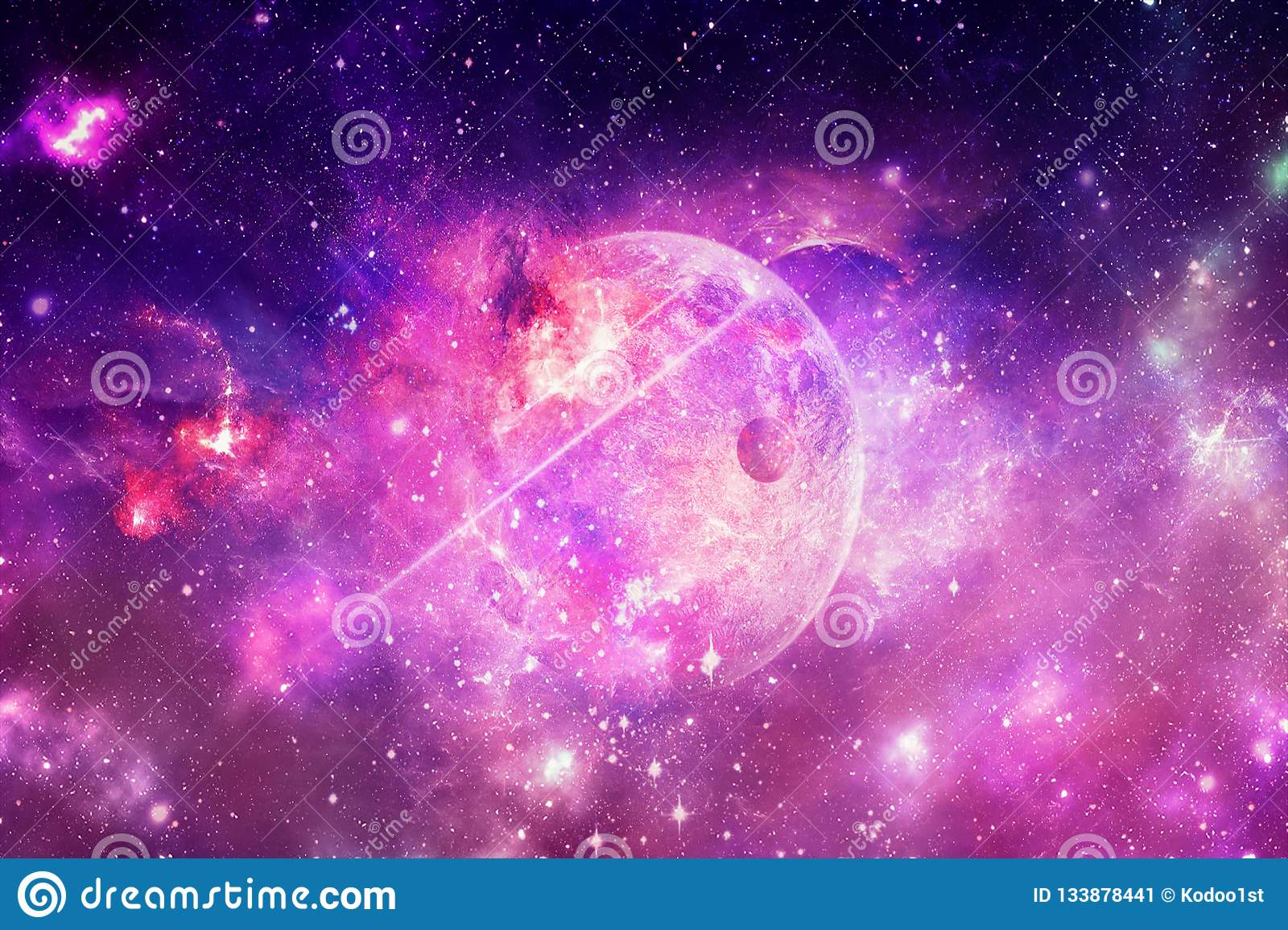 2757f5e50cec Abstract Nebula And Galaxies In A Space Background Stock Image ...