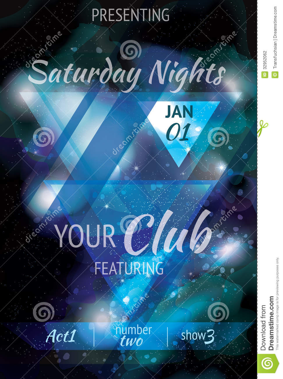 abstract nebula style flyer design stock vector illustration of