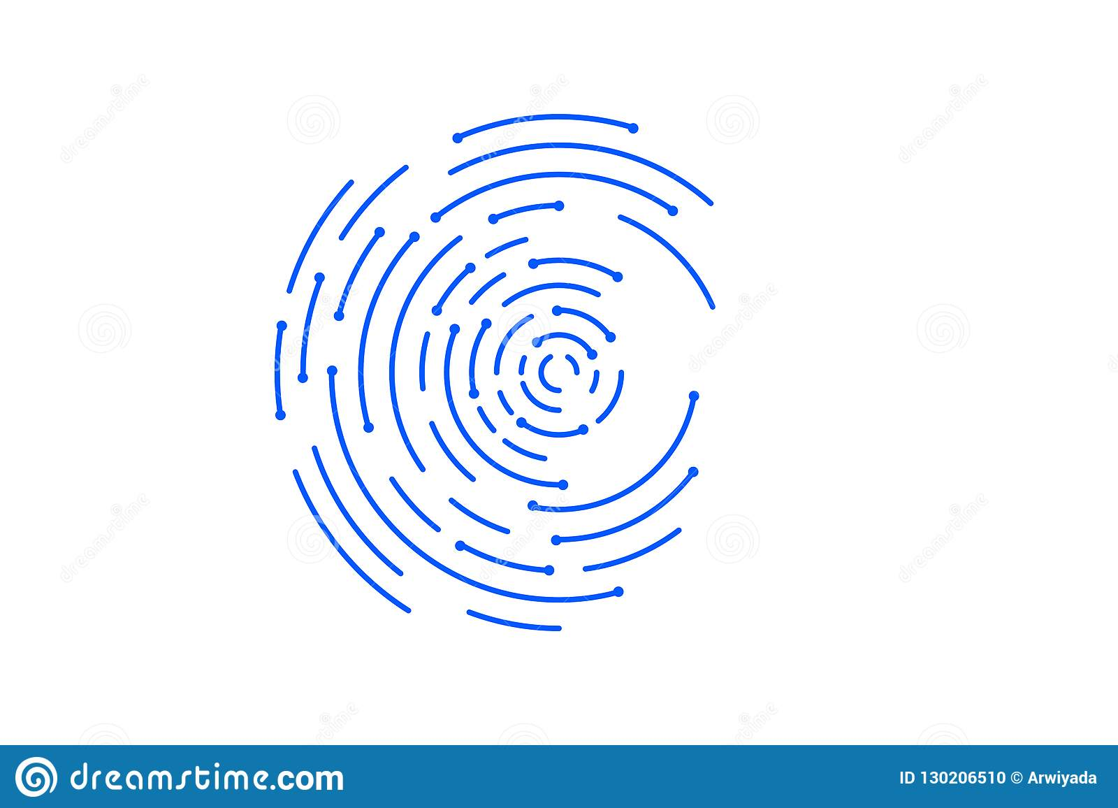 Abstract Network Connection Element Of Intelligence Icon For C