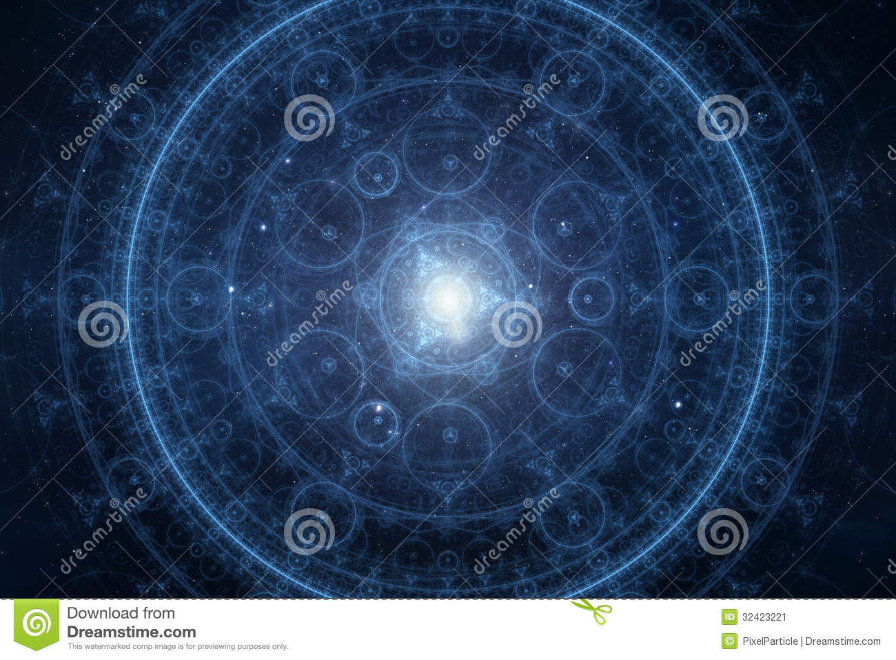 Abstract New Age Spiritual Background Stock Image Image