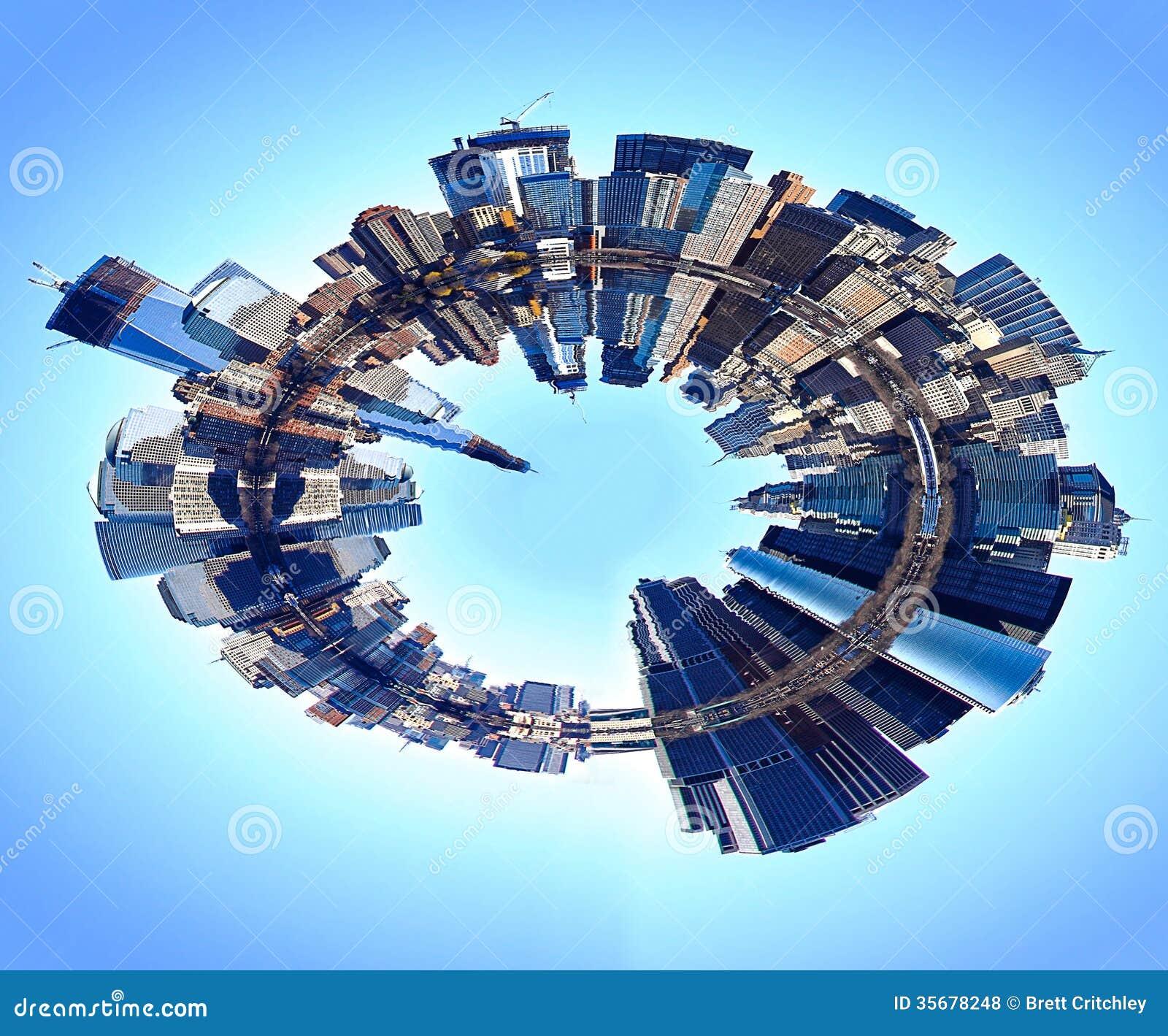 Abstract New york skyline world