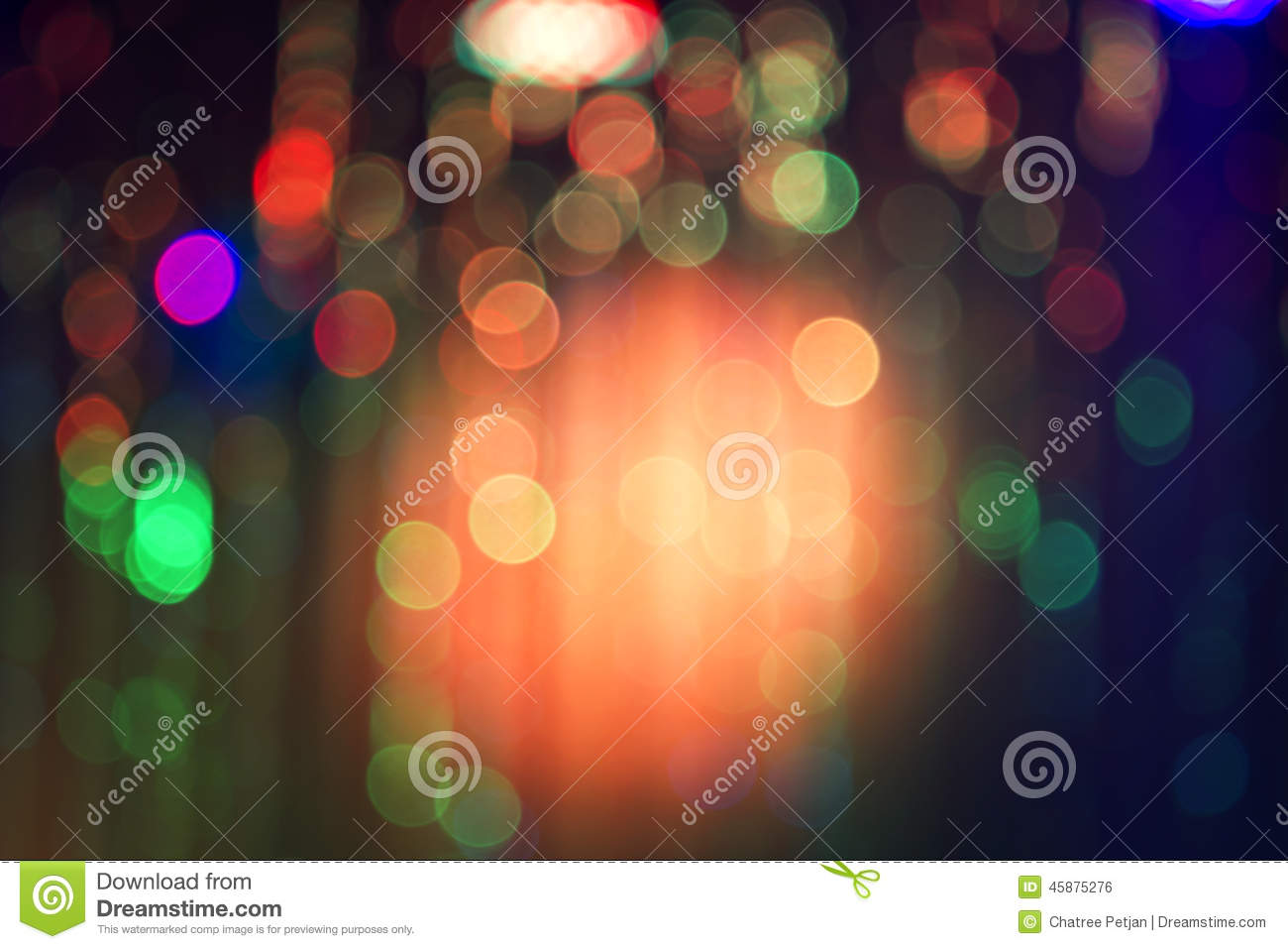 Abstract night bokeh background.