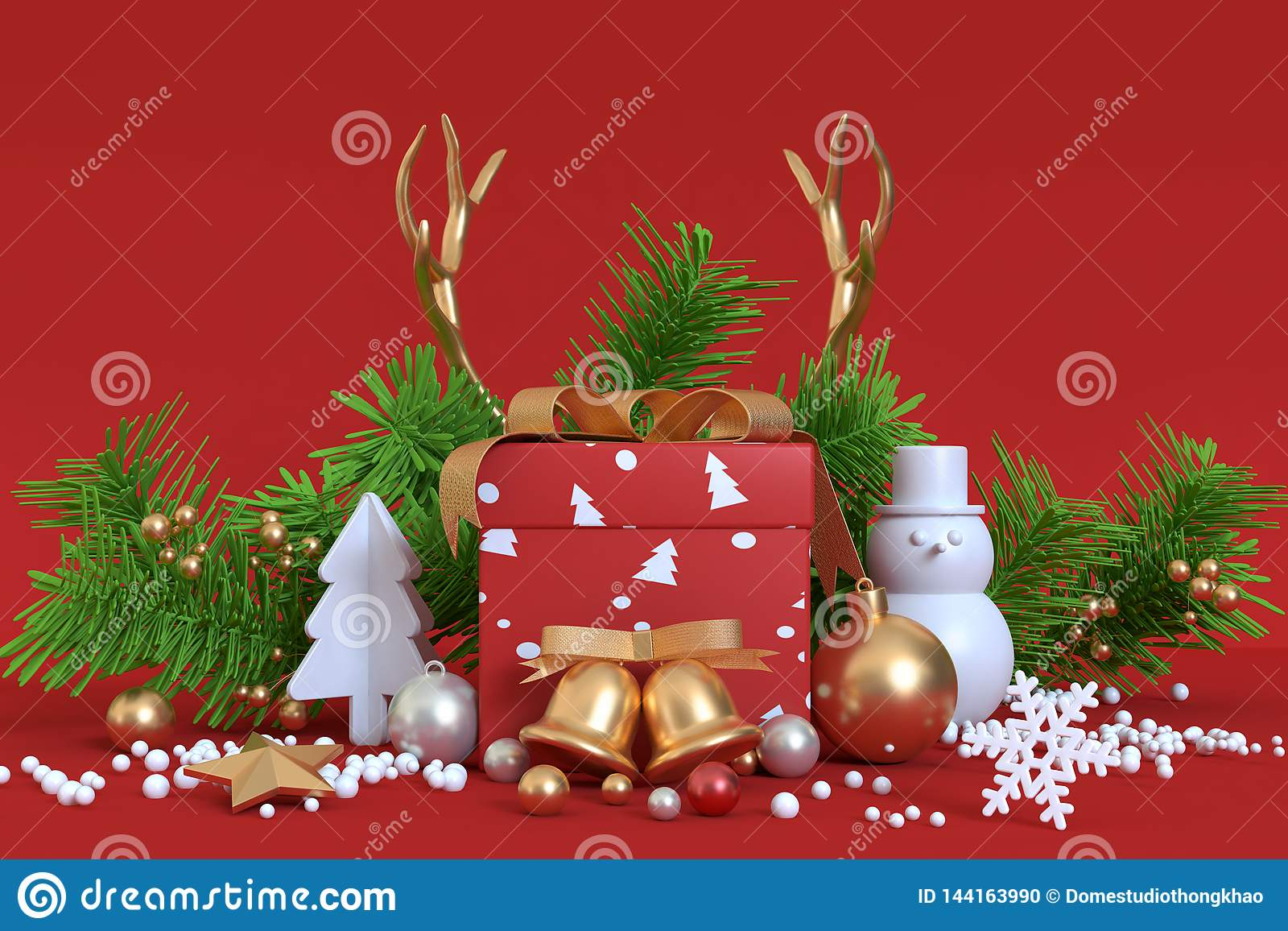 abstract object christmas decoration-christmas background gift box
