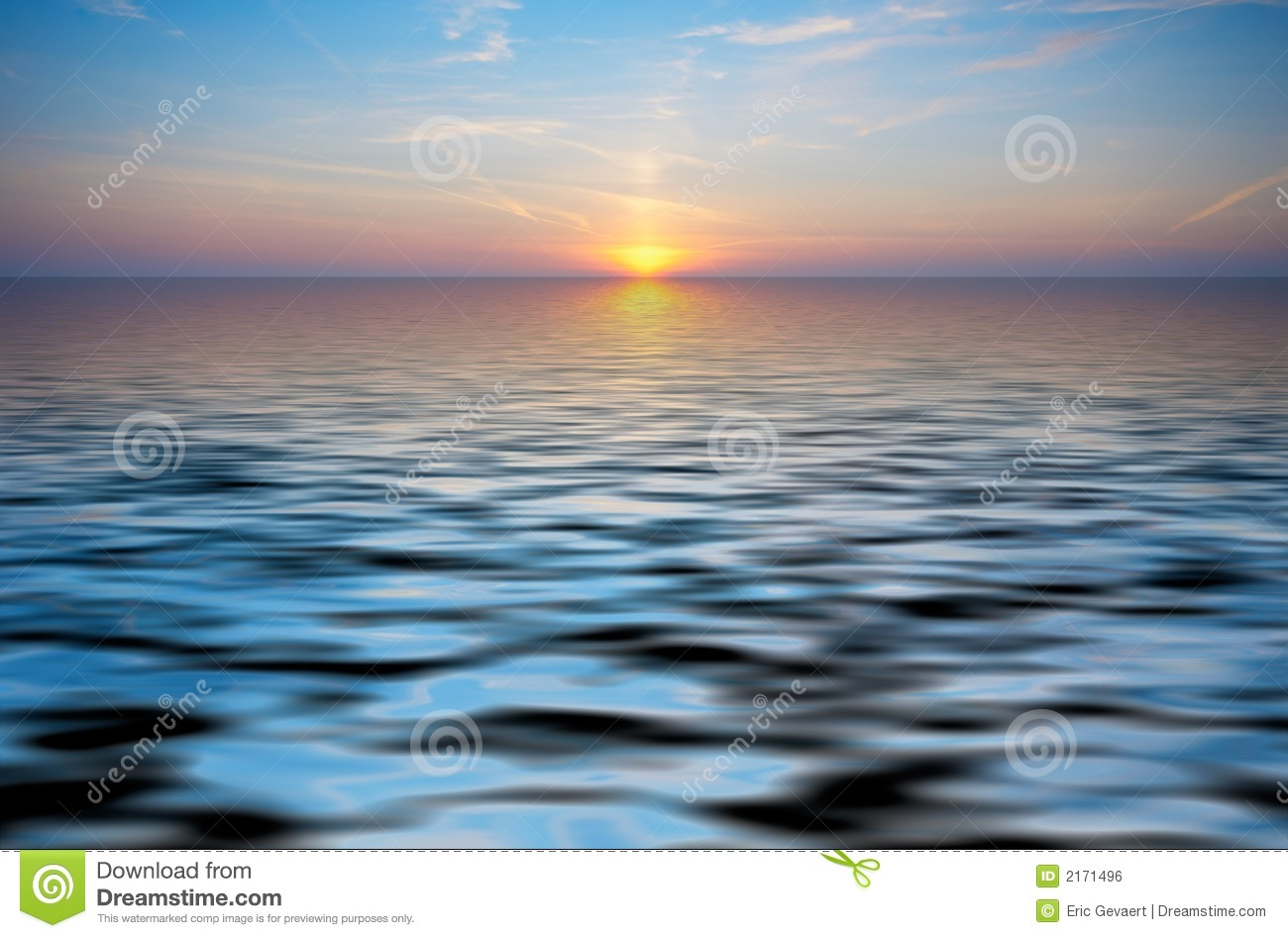 Abstract Ocean And Sunset Back Stock Photo - Image of ...