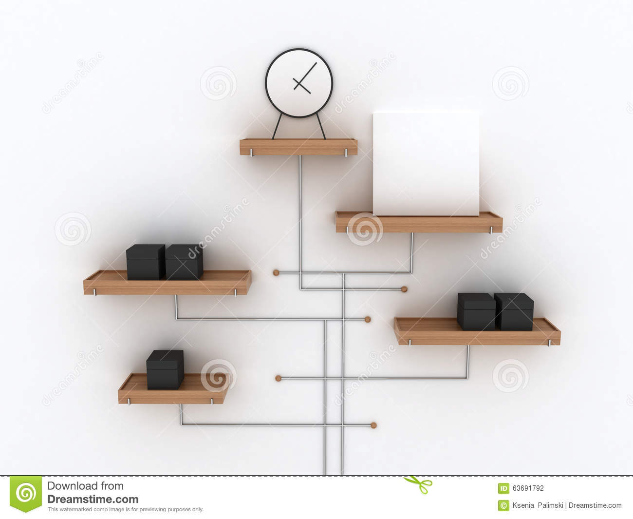 Royalty Free Stock Photo. Download Abstract Office Shelves Design ...