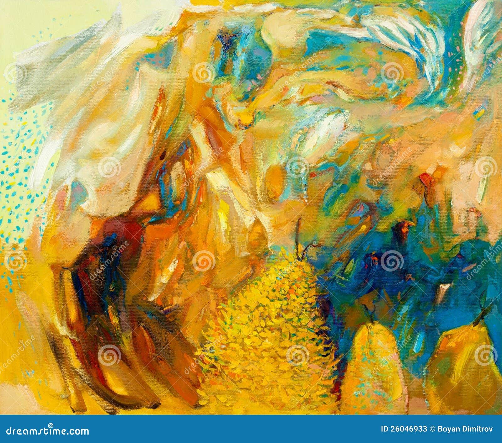 Abstract olieverfschilderij