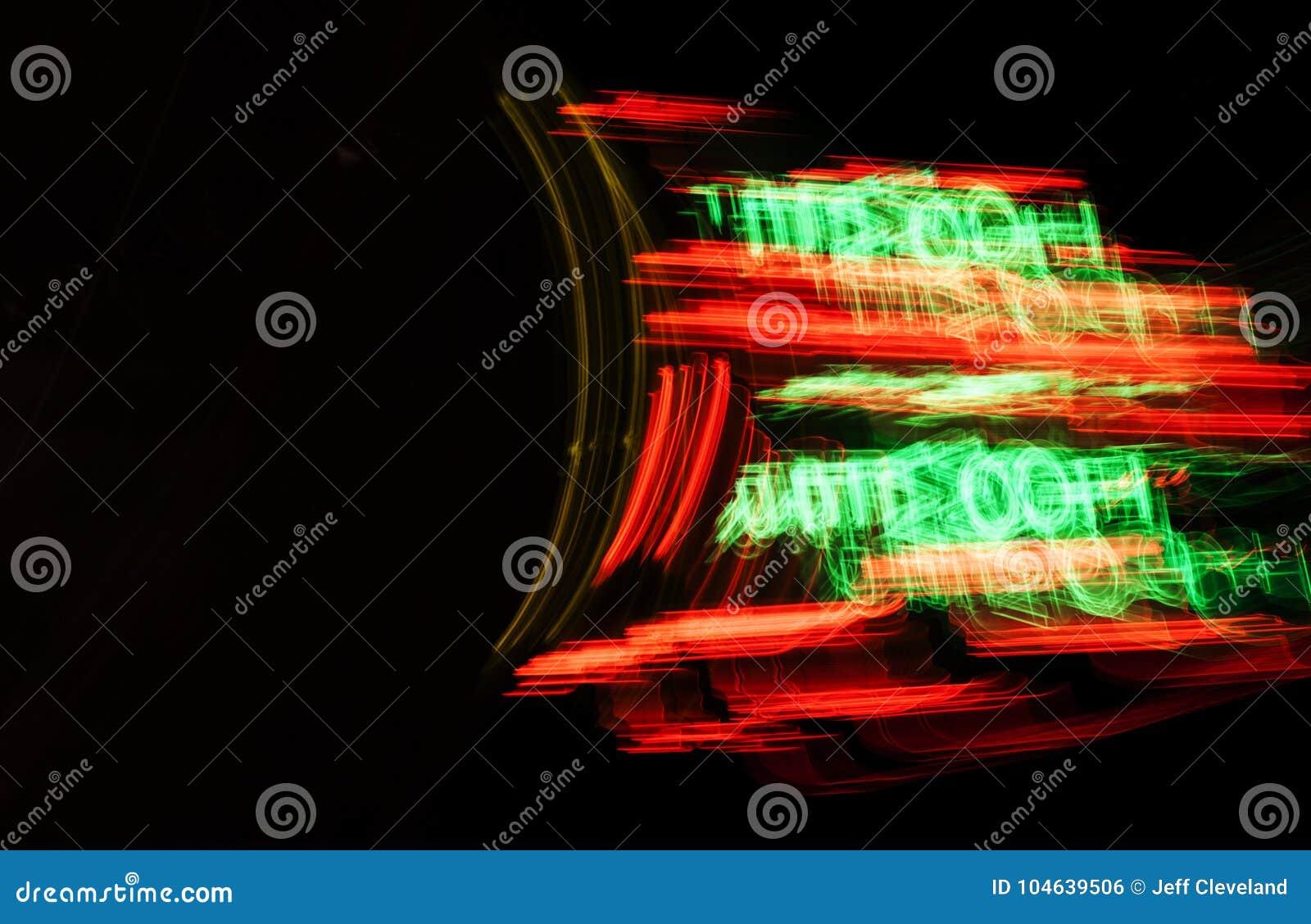 Download Abstract Ontwerp Met Vaag Neonlichtteken Stock Foto - Afbeelding bestaande uit teken, licht: 104639506