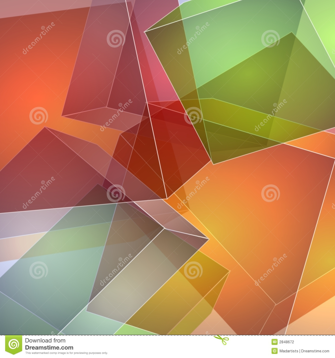 Abstract Opaque Squares Stock Photography Image 2848672