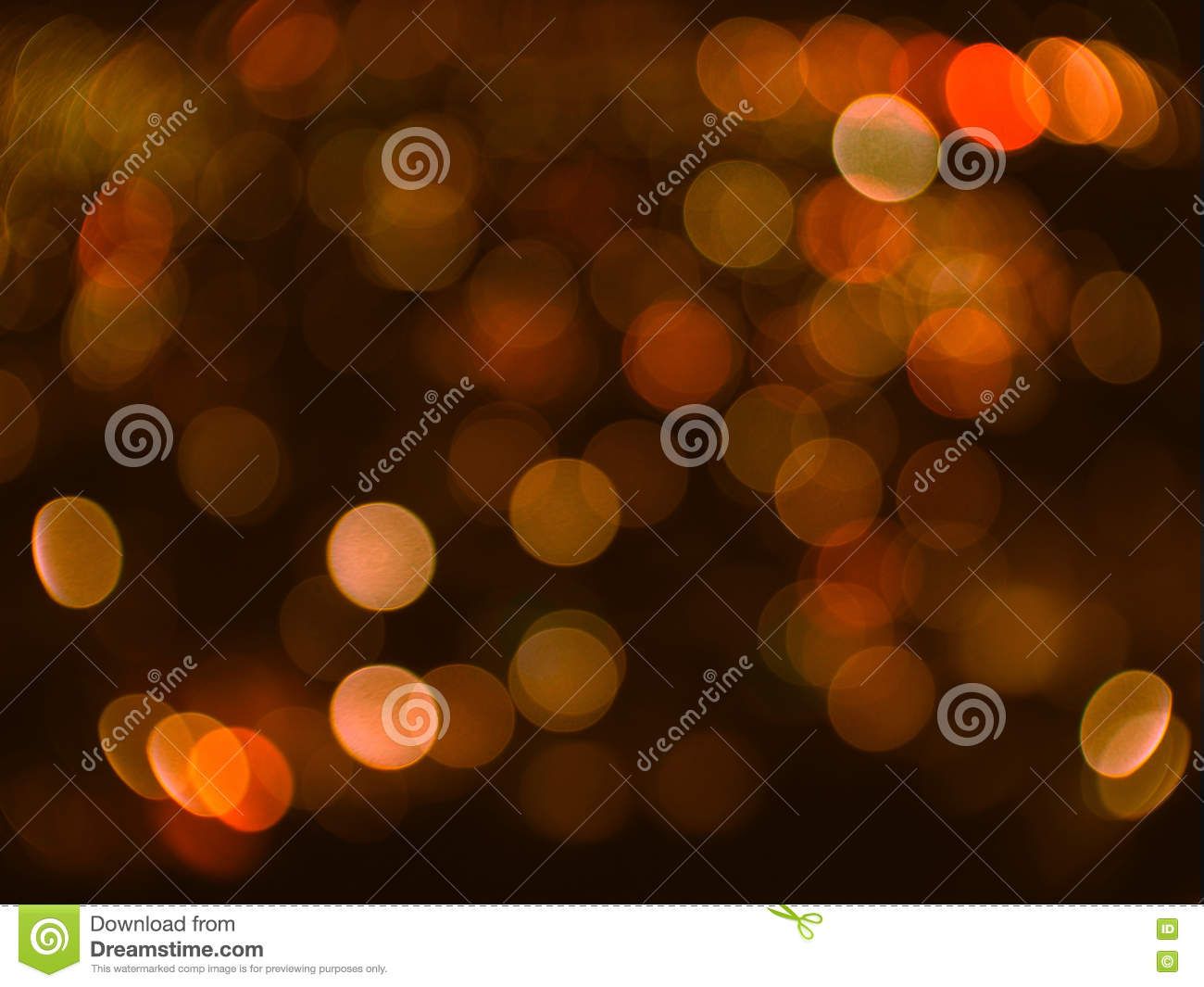 Abstract orange blured bokeh