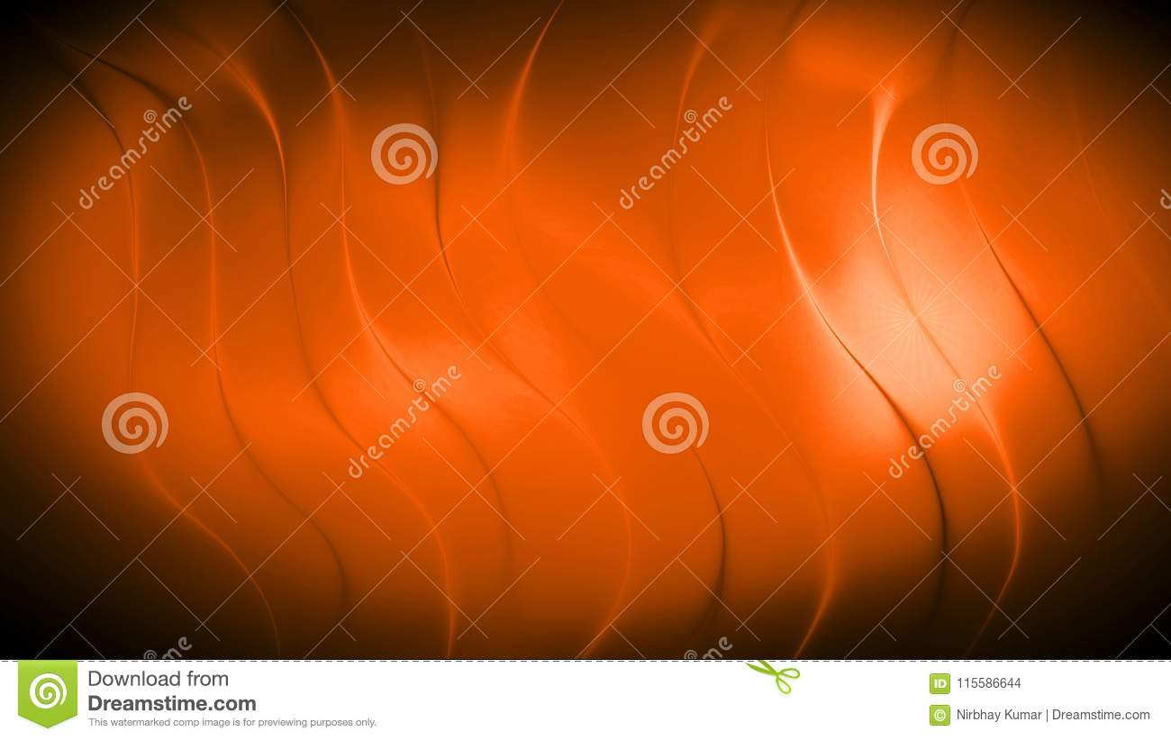 Abstract orange 3d wave background